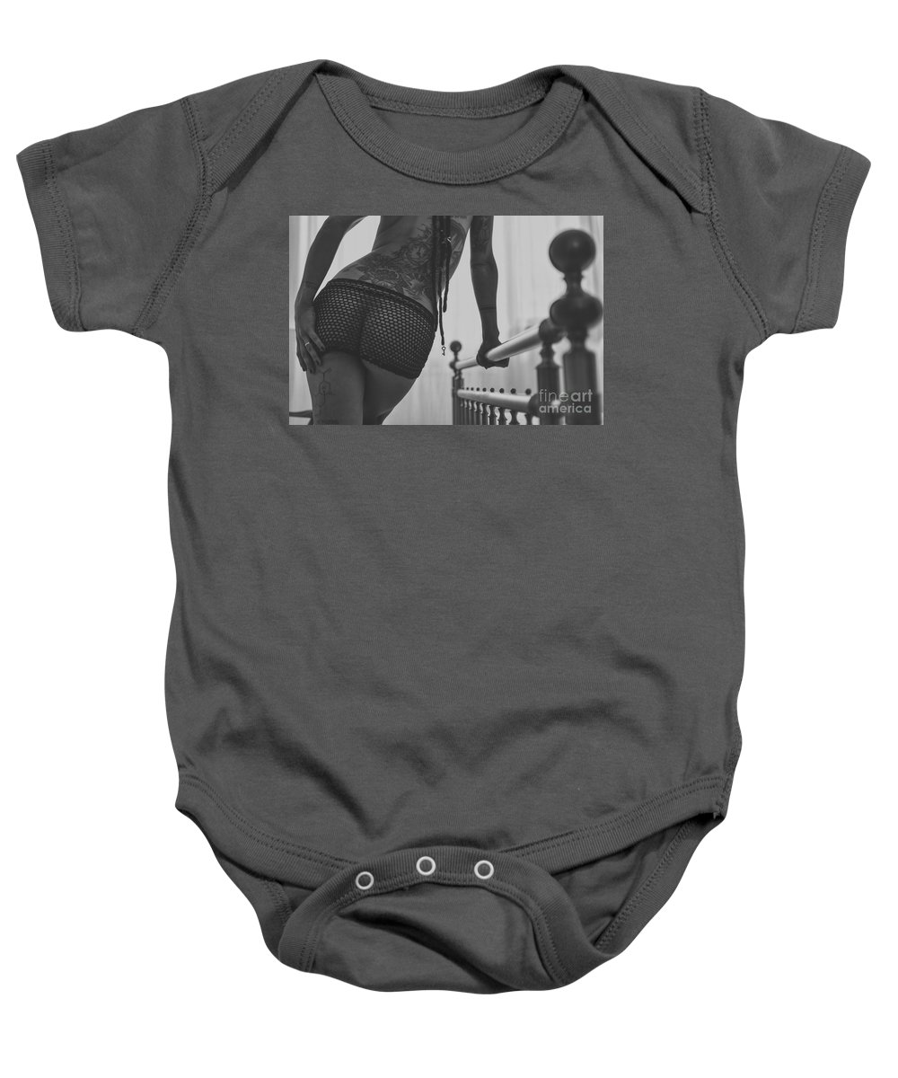 Adult Baby Onesie featuring the photograph Silvia by Traven Milovich