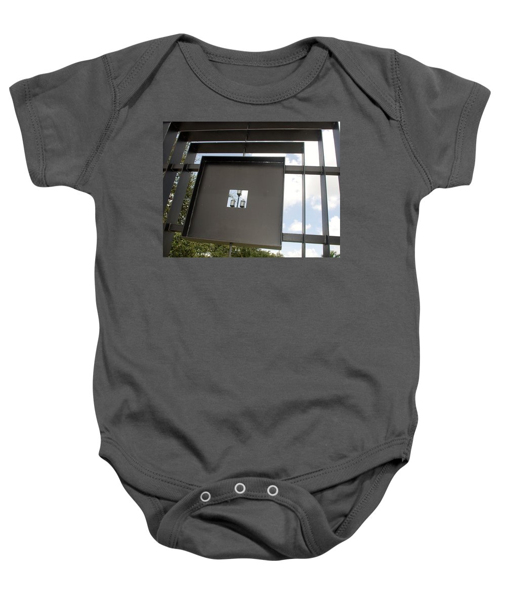 Sculptures Baby Onesie featuring the photograph 3 Lights Thru The Box by Rob Hans