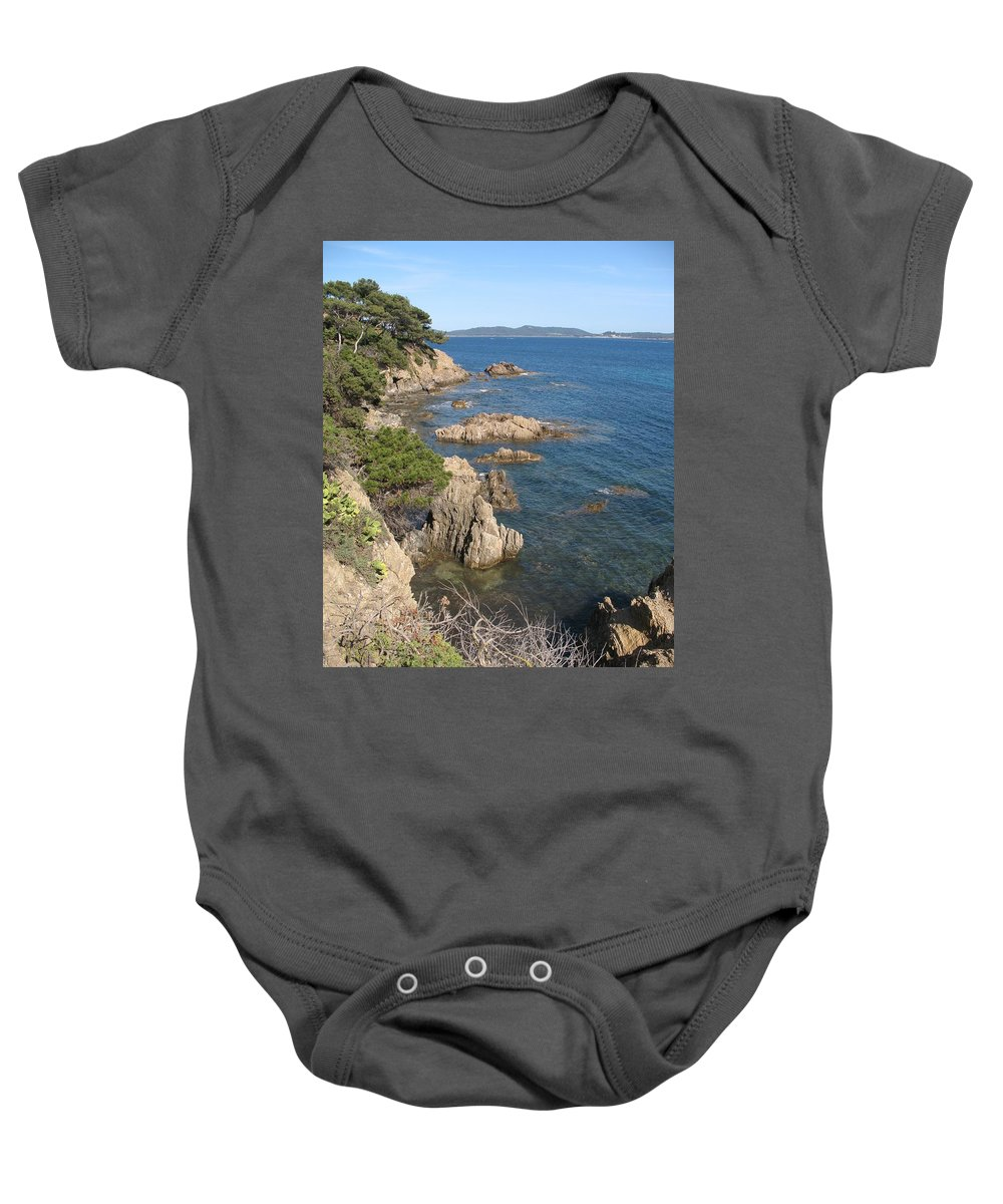 Peninsula Baby Onesie featuring the photograph Peninsula Gien by Christiane Schulze Art And Photography