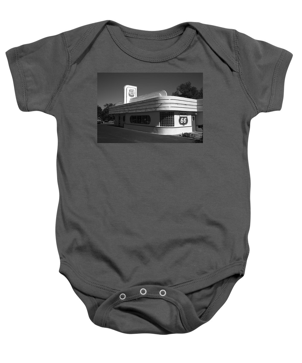 66 Baby Onesie featuring the photograph Route 66 Diner by Frank Romeo