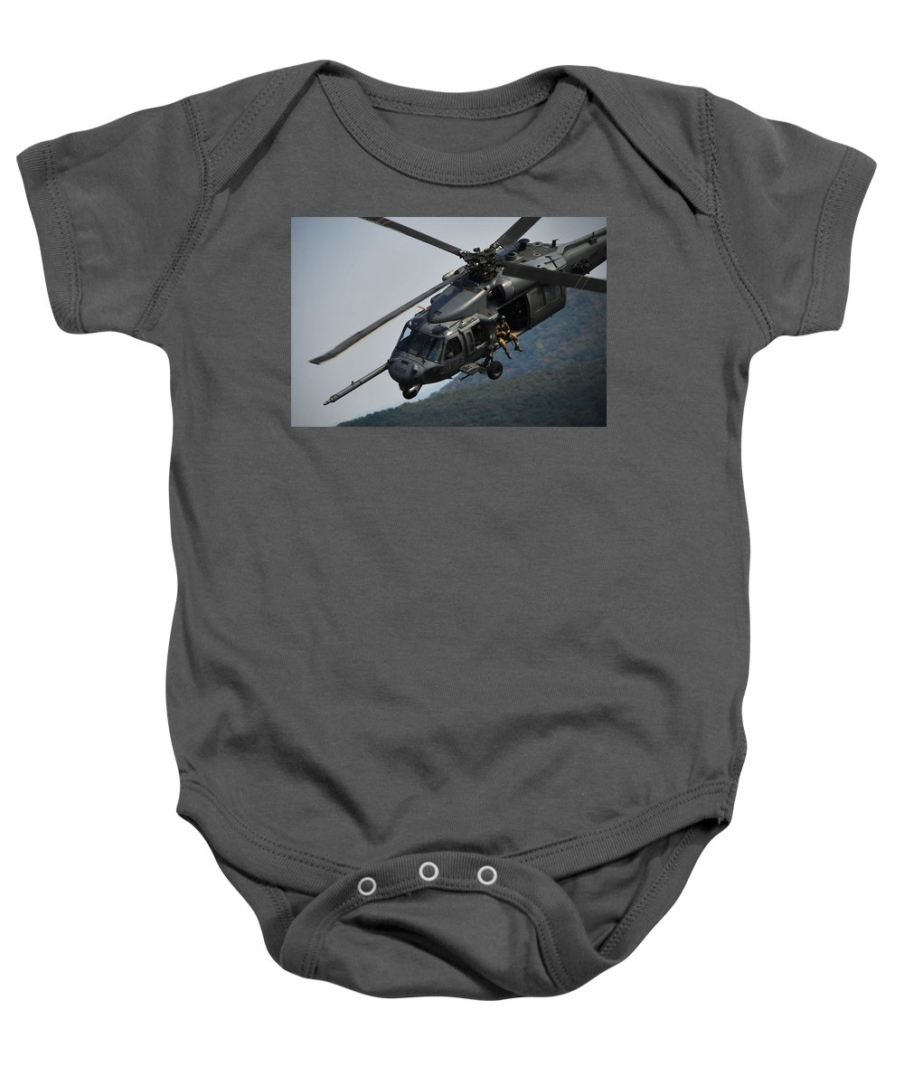 Military Baby Onesie featuring the photograph 33rd Rescue Squadron, Osan Air Base by Science Source