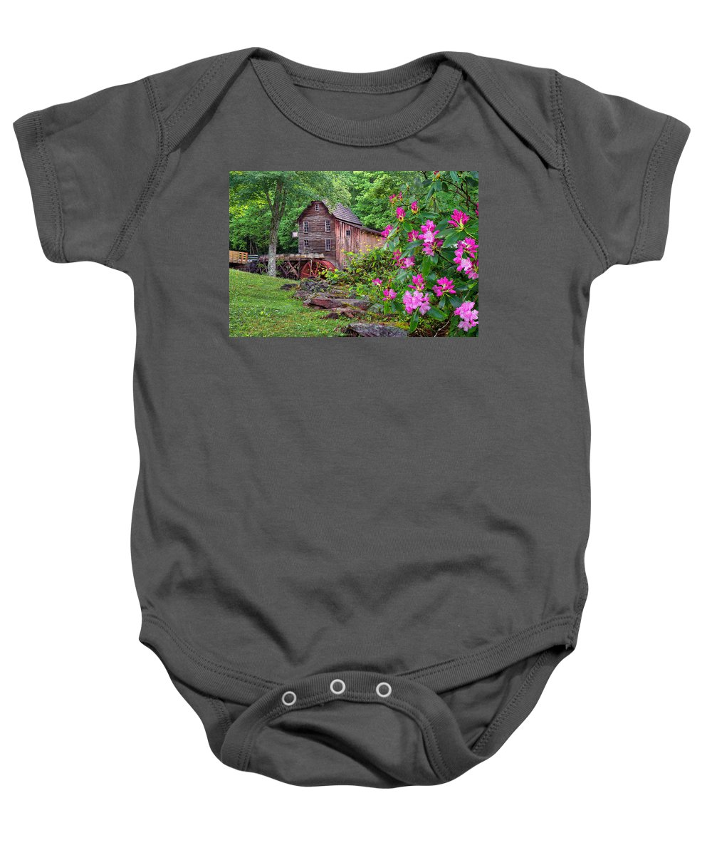 Babcock State Park Baby Onesie featuring the photograph Babcock State Park by Mary Almond