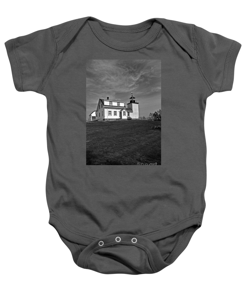 Lighthouses Baby Onesie featuring the photograph Fort Point Lighthouse by Skip Willits