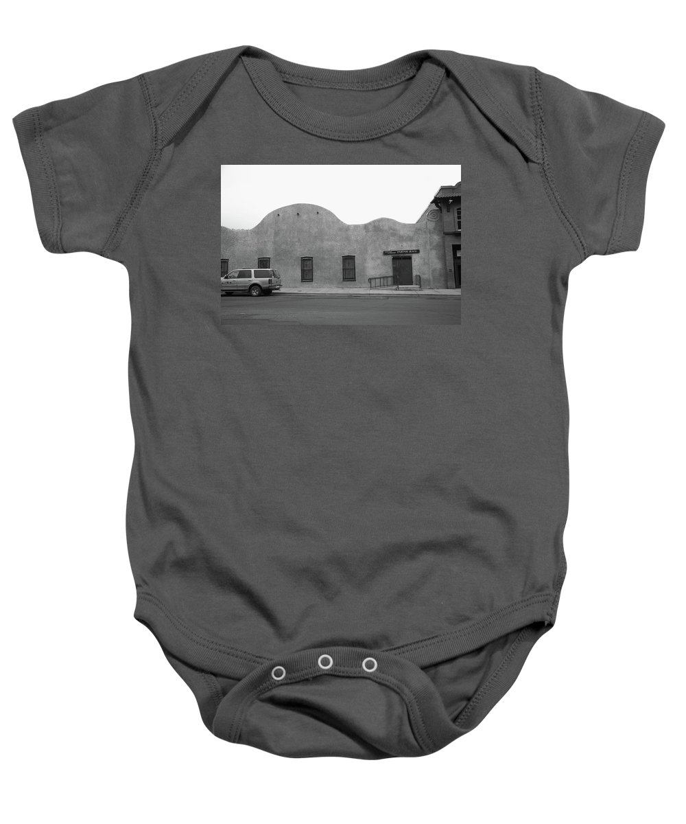 Adobe Baby Onesie featuring the photograph Las Vegas New Mexico Church by Frank Romeo