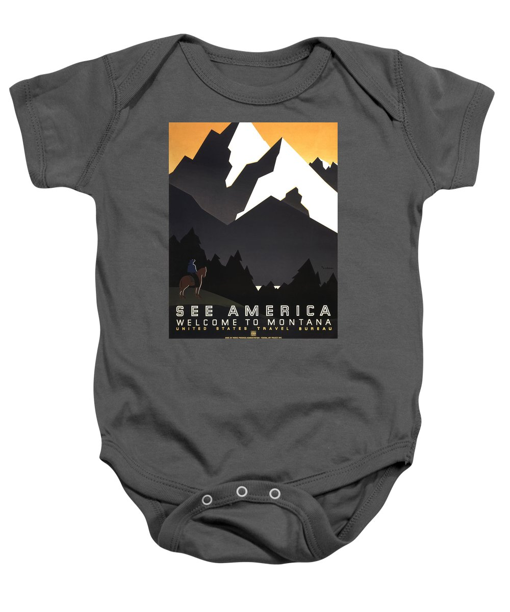 1937 Baby Onesie featuring the photograph See America Poster, C1937 by Granger