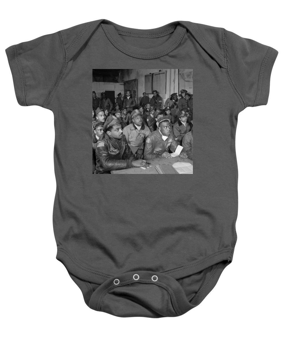 1945 Baby Onesie featuring the photograph Tuskegee Airmen, 1945 by Granger