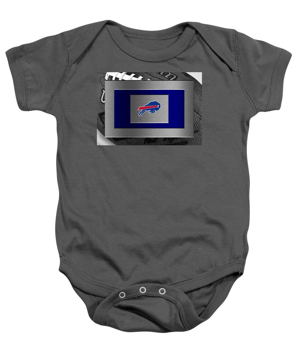 Bills Baby Onesie featuring the photograph Buffalo Bills by Joe Hamilton