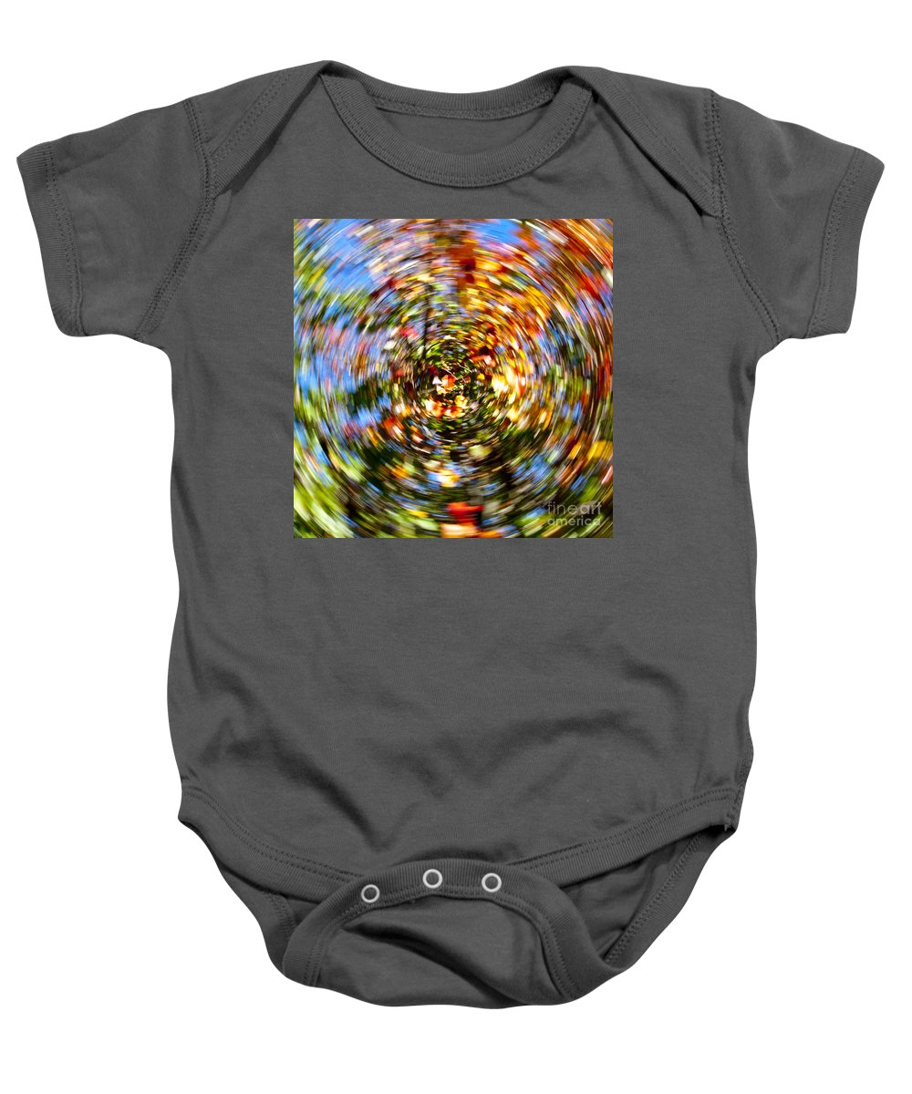 Autumn Baby Onesie featuring the photograph Fall Abstract by Steven Ralser