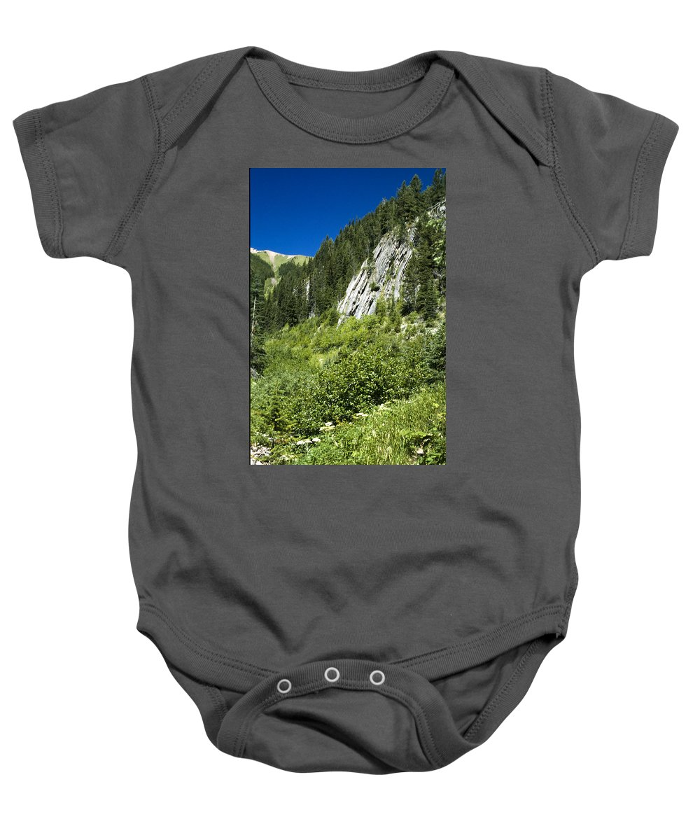 Americas Baby Onesie featuring the photograph Kindersley Pass by Roderick Bley