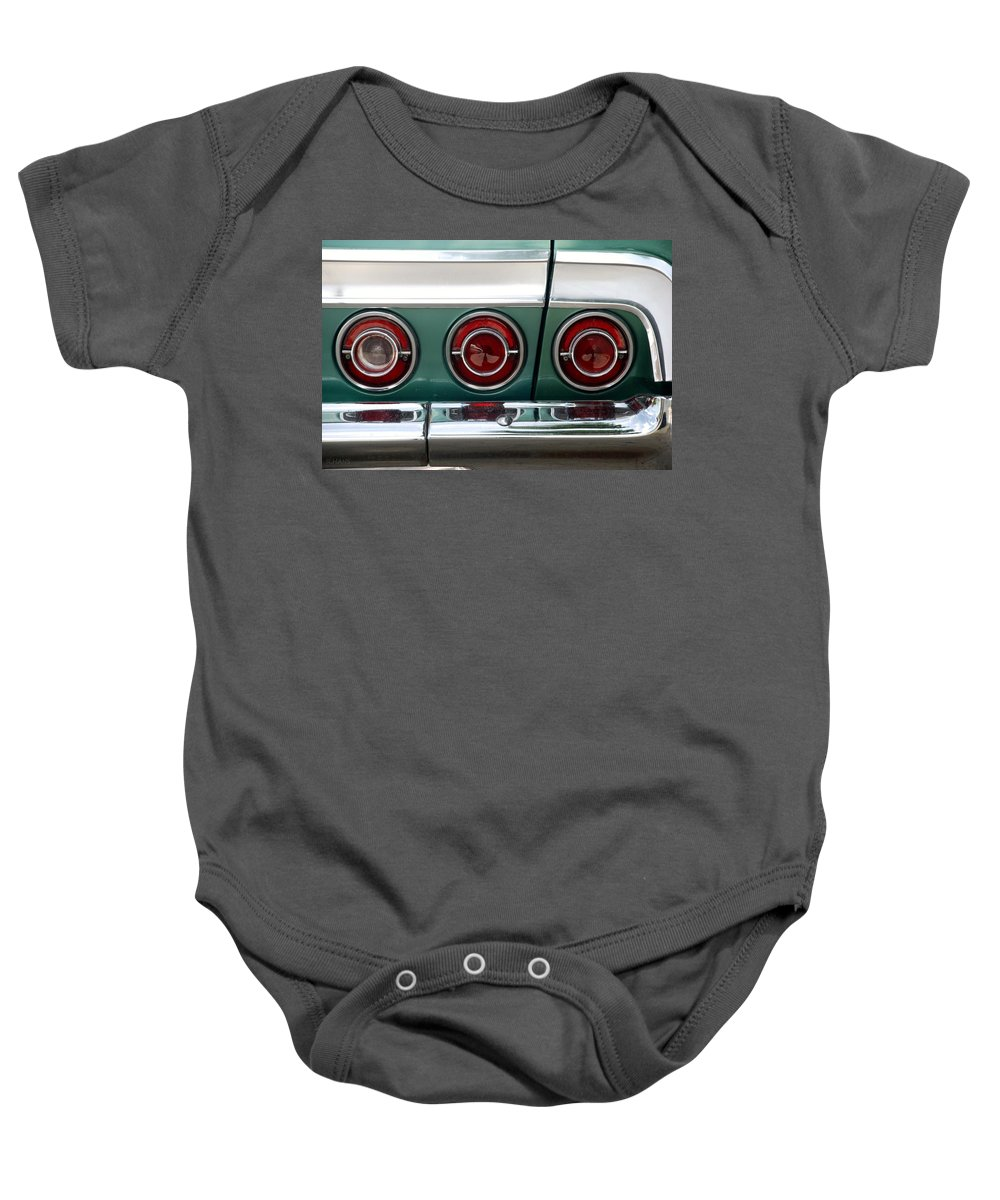 Chevrolet Baby Onesie featuring the photograph 64 Impala by Rob Hans