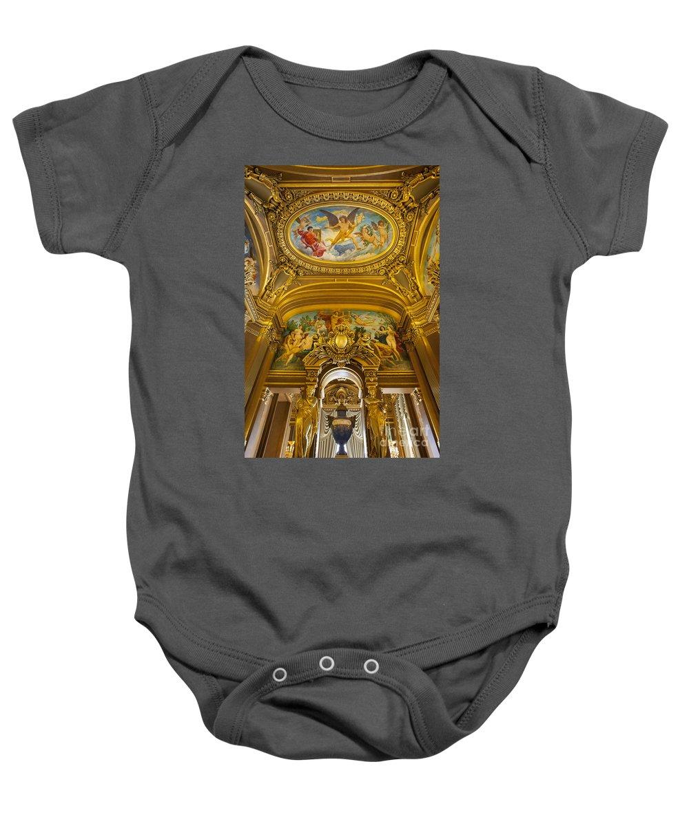 Architectural Baby Onesie featuring the photograph Palais Garnier Interior by Brian Jannsen