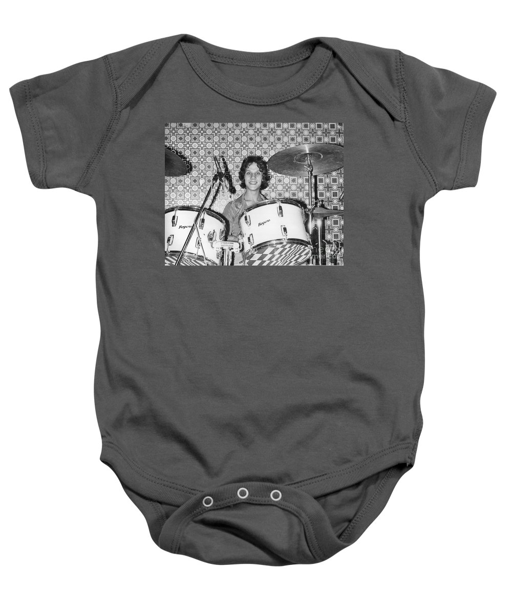Steve Baby Onesie featuring the photograph The Boyfriends by David Fowler