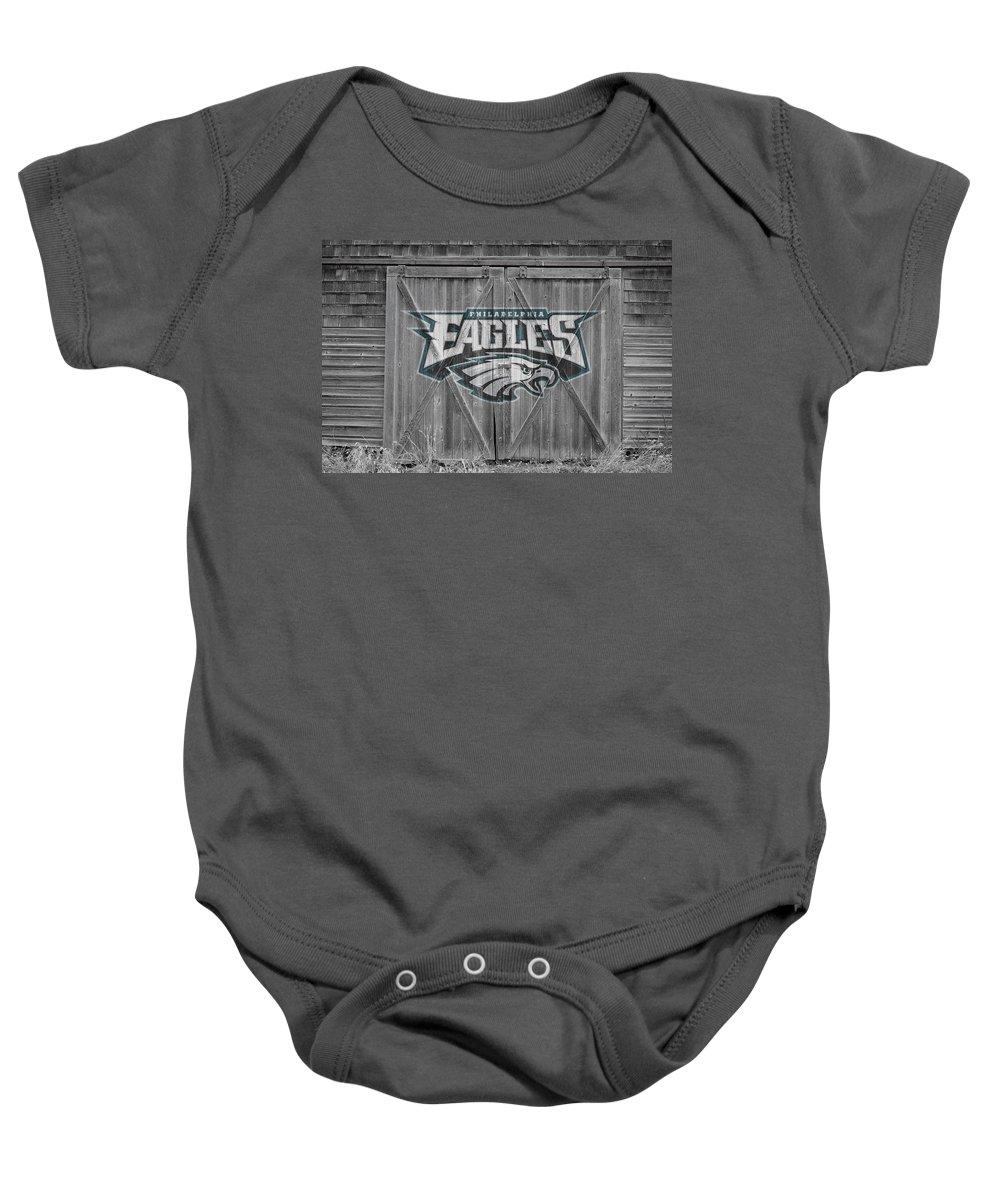 Eagles Baby Onesie featuring the photograph Philadelphia Eagles by Joe Hamilton