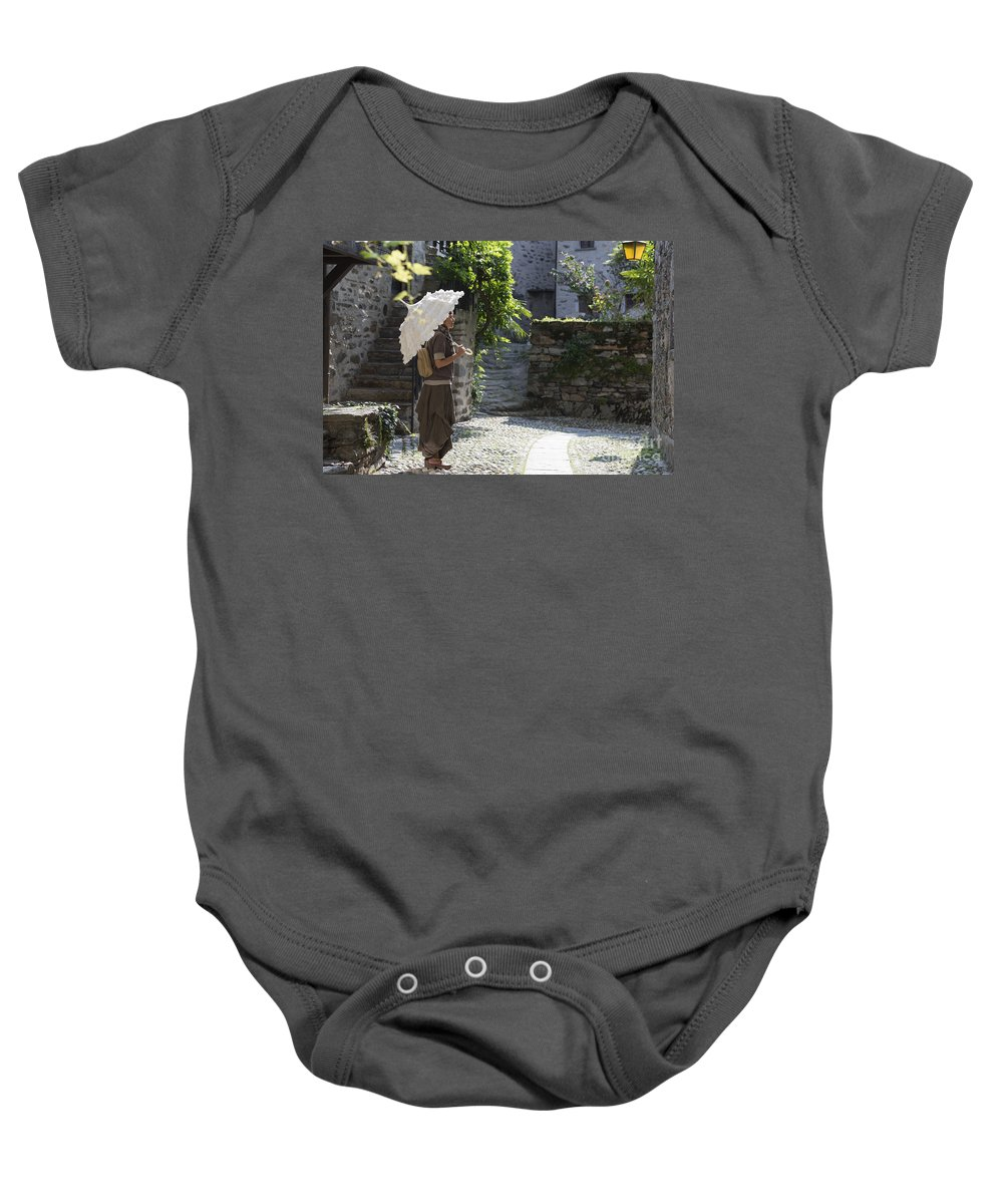 Woman Baby Onesie featuring the photograph Umbrella by Mats Silvan