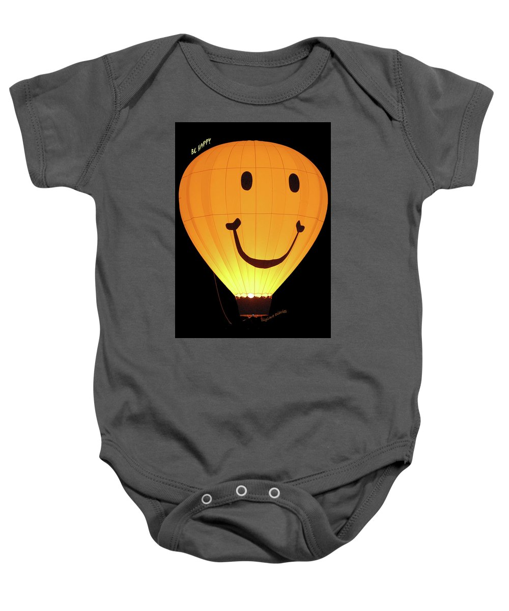 Balloon Baby Onesie featuring the digital art A Glowing Smile by DigiArt Diaries by Vicky B Fuller