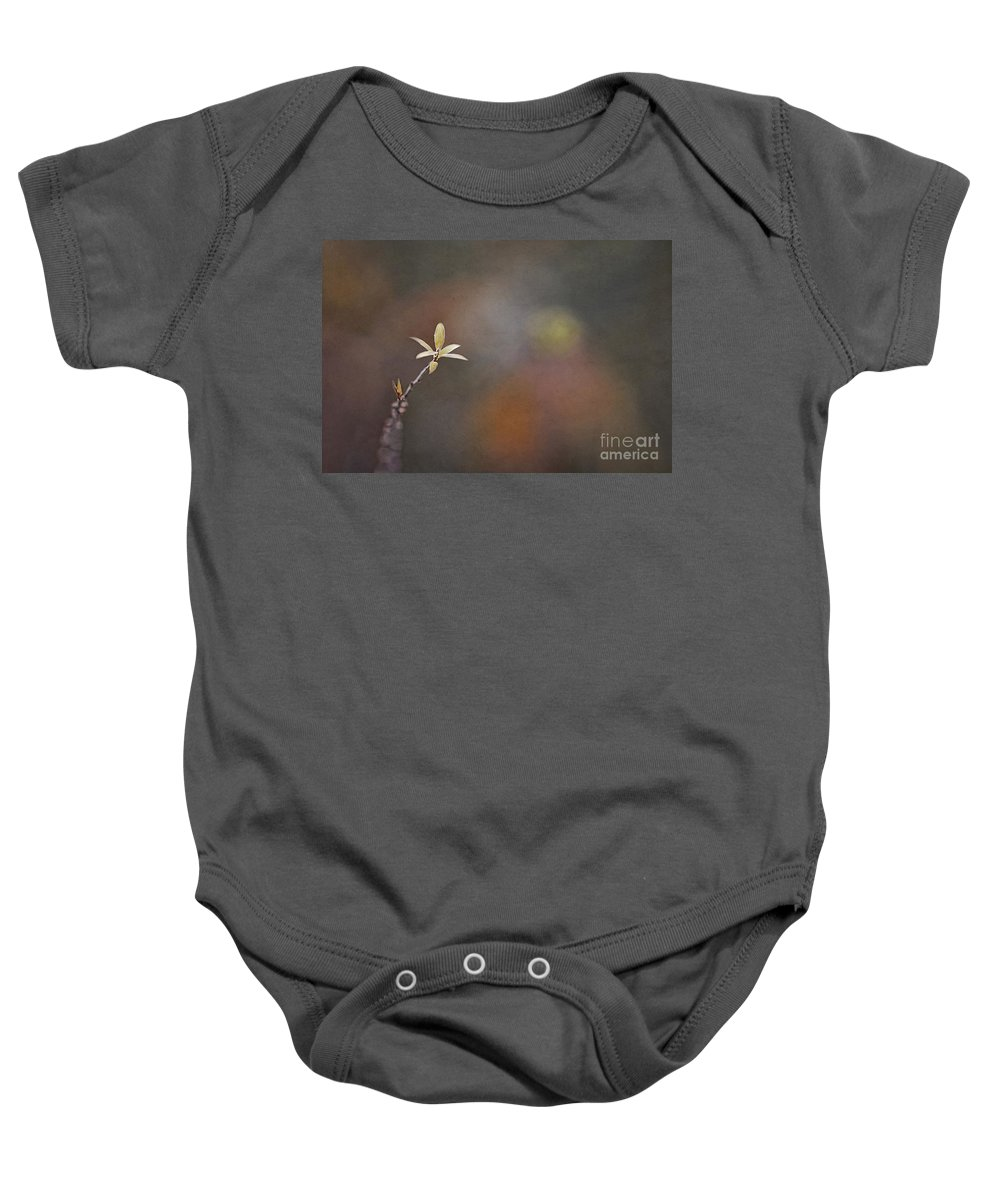 Baby Onesie featuring the photograph A Light In The Dark by Maria Ismanah Schulze-Vorberg