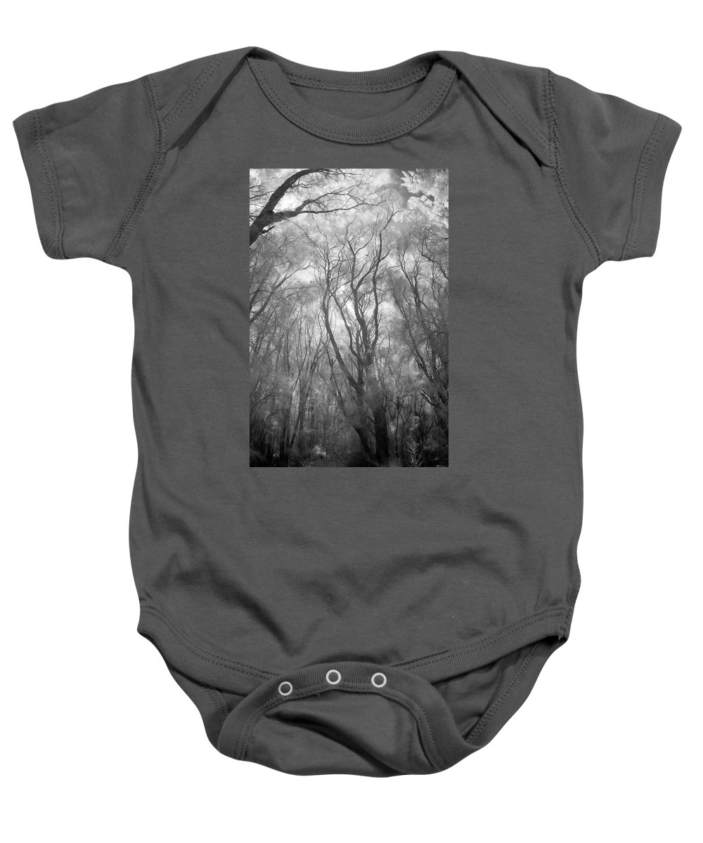 Beauty In Nature Baby Onesie featuring the photograph A Low Angle View Of A Ironwood by Jonathan Kingston