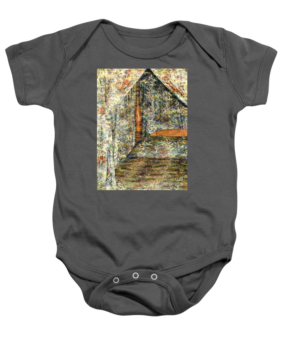 Antiques Baby Onesie featuring the painting A Profusion Of Chintz by RC DeWinter