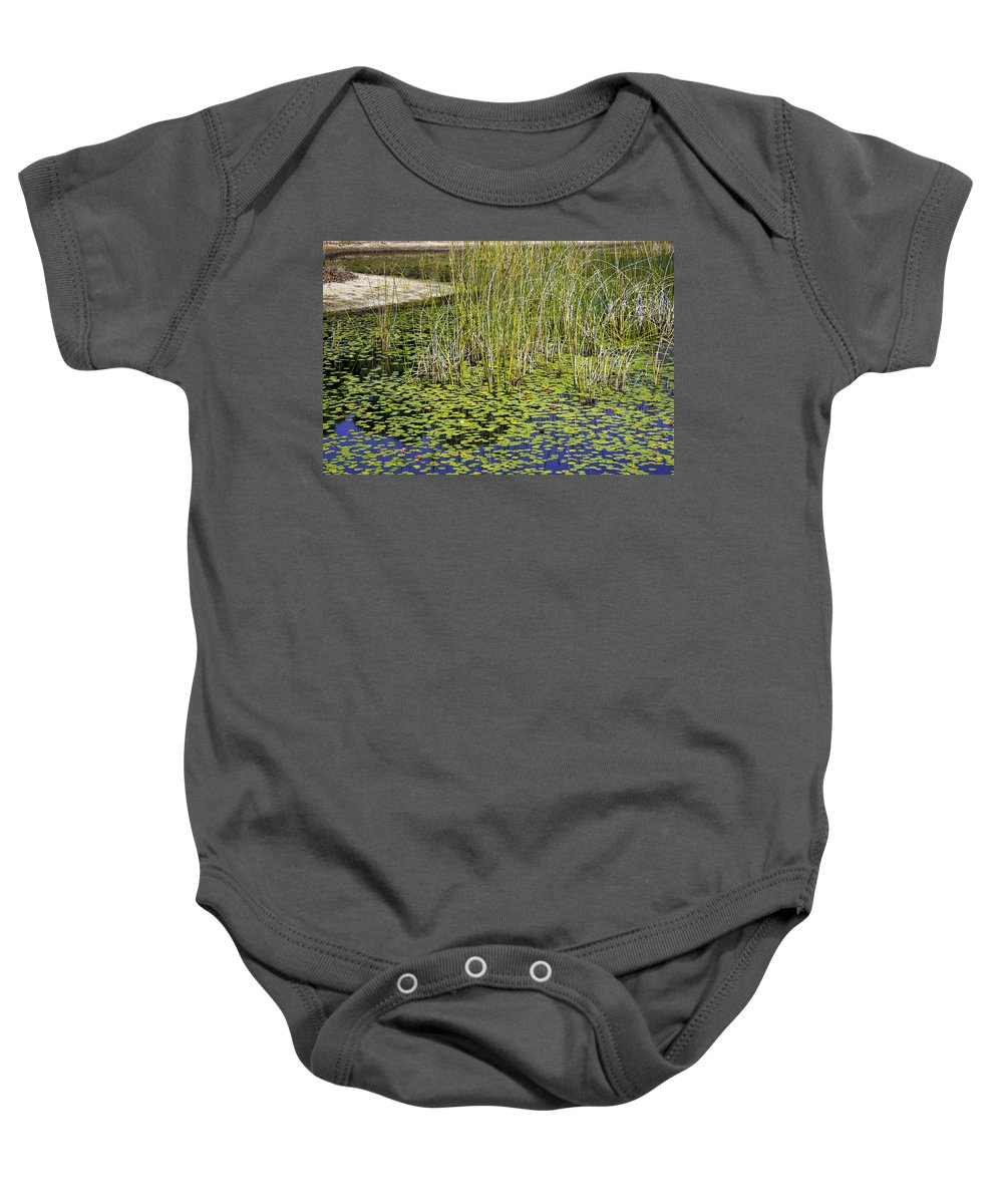 Pond Baby Onesie featuring the photograph A Touch Of Beauty by Madeline Ellis