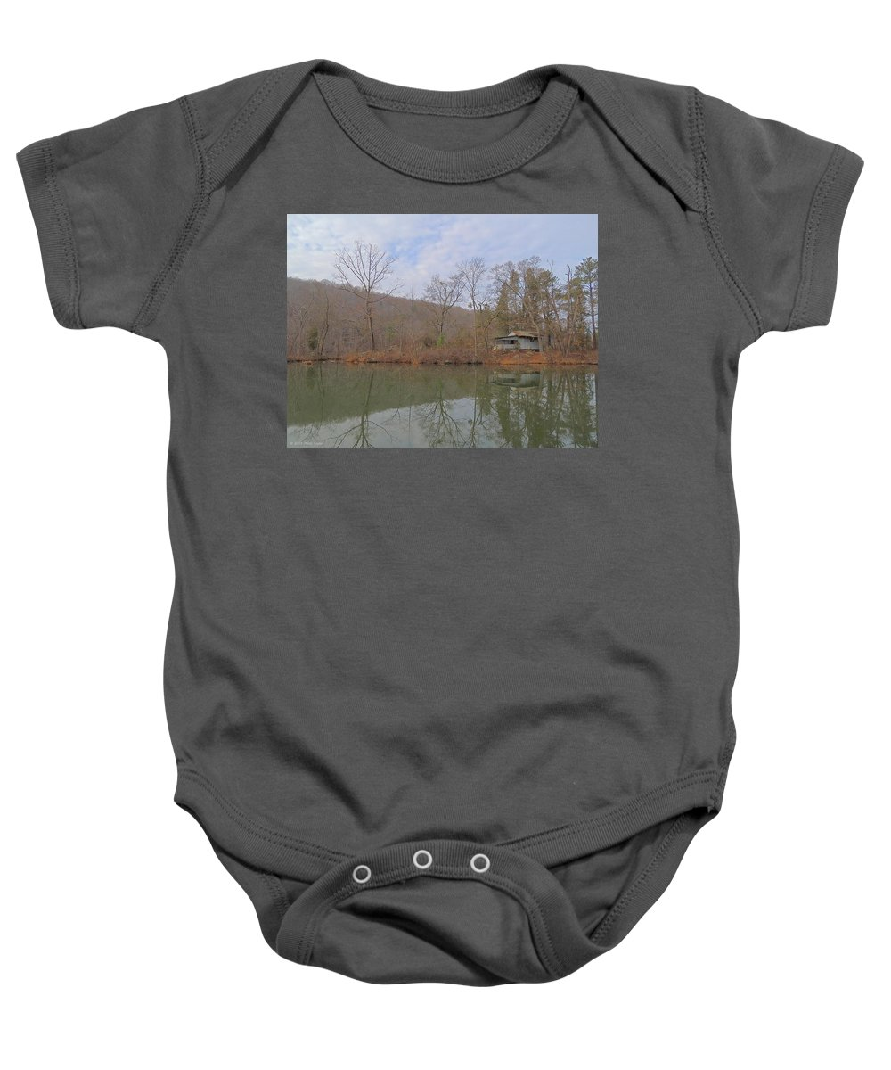 Old Baby Onesie featuring the photograph Abandoned Island Home by Matt Taylor