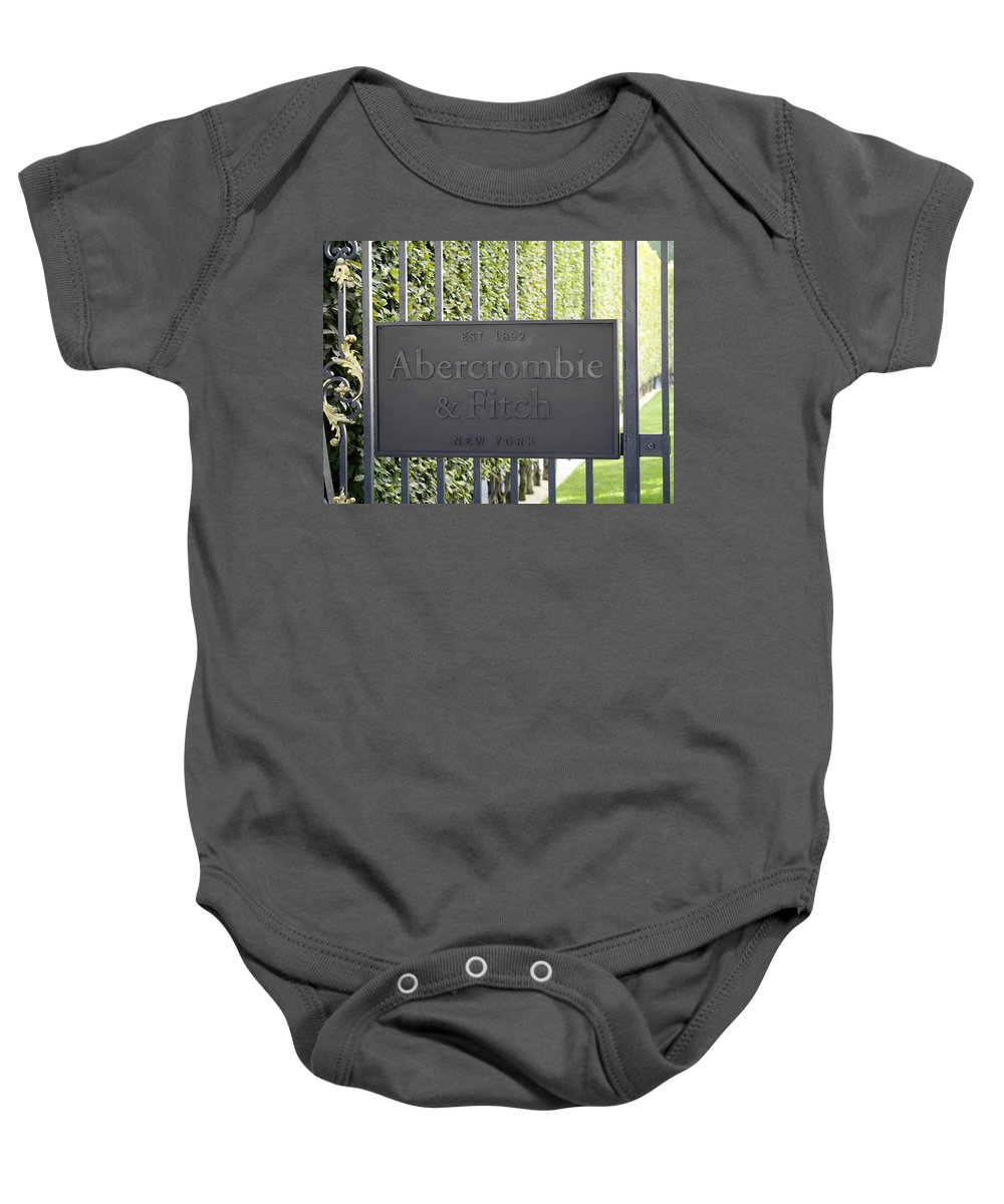 Paris Baby Onesie featuring the photograph Abercrombie And Fitch Store In Paris France by Richard Rosenshein