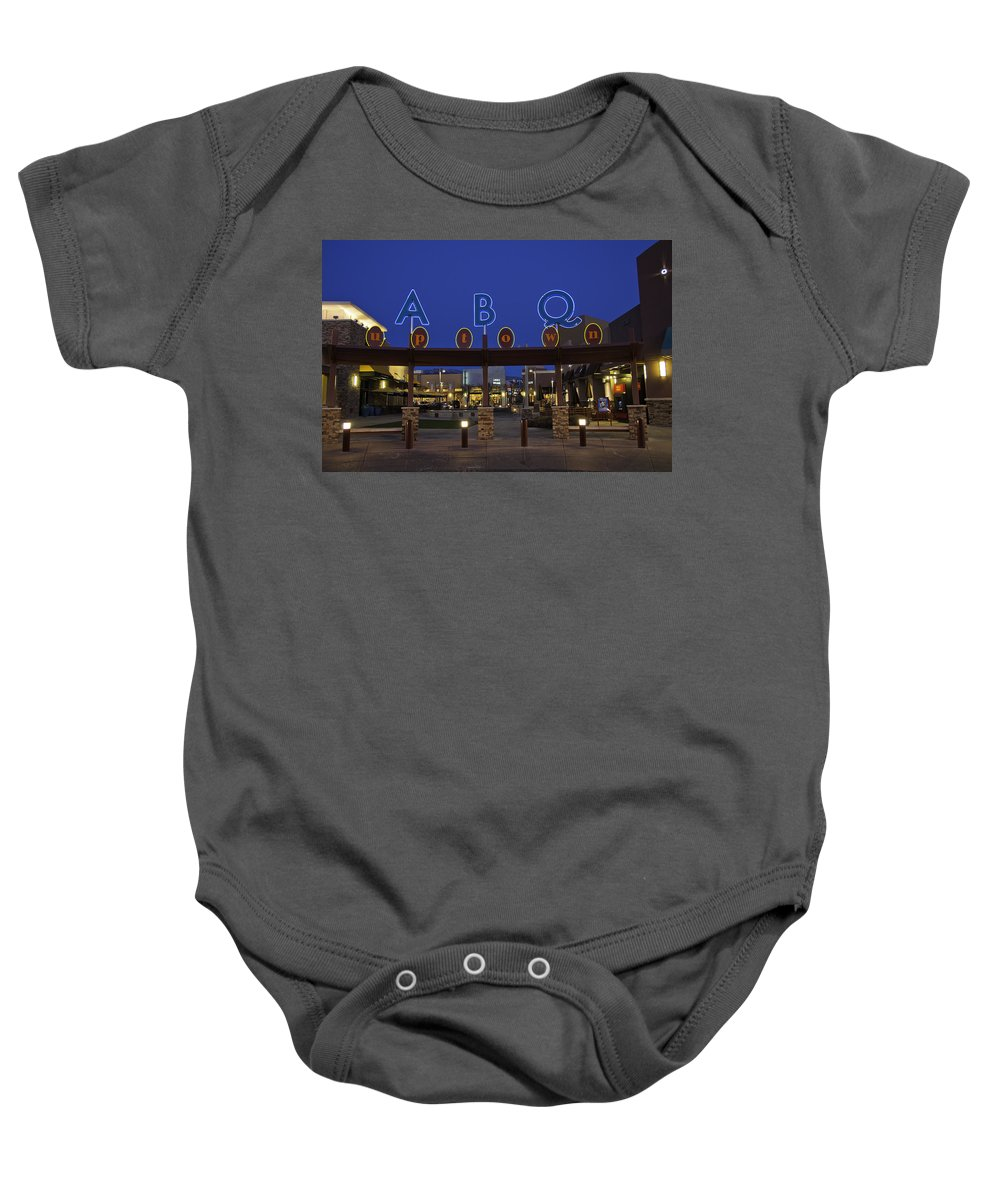 Albuquerque Baby Onesie featuring the photograph Abq Uptown Entrance by Jon Zich
