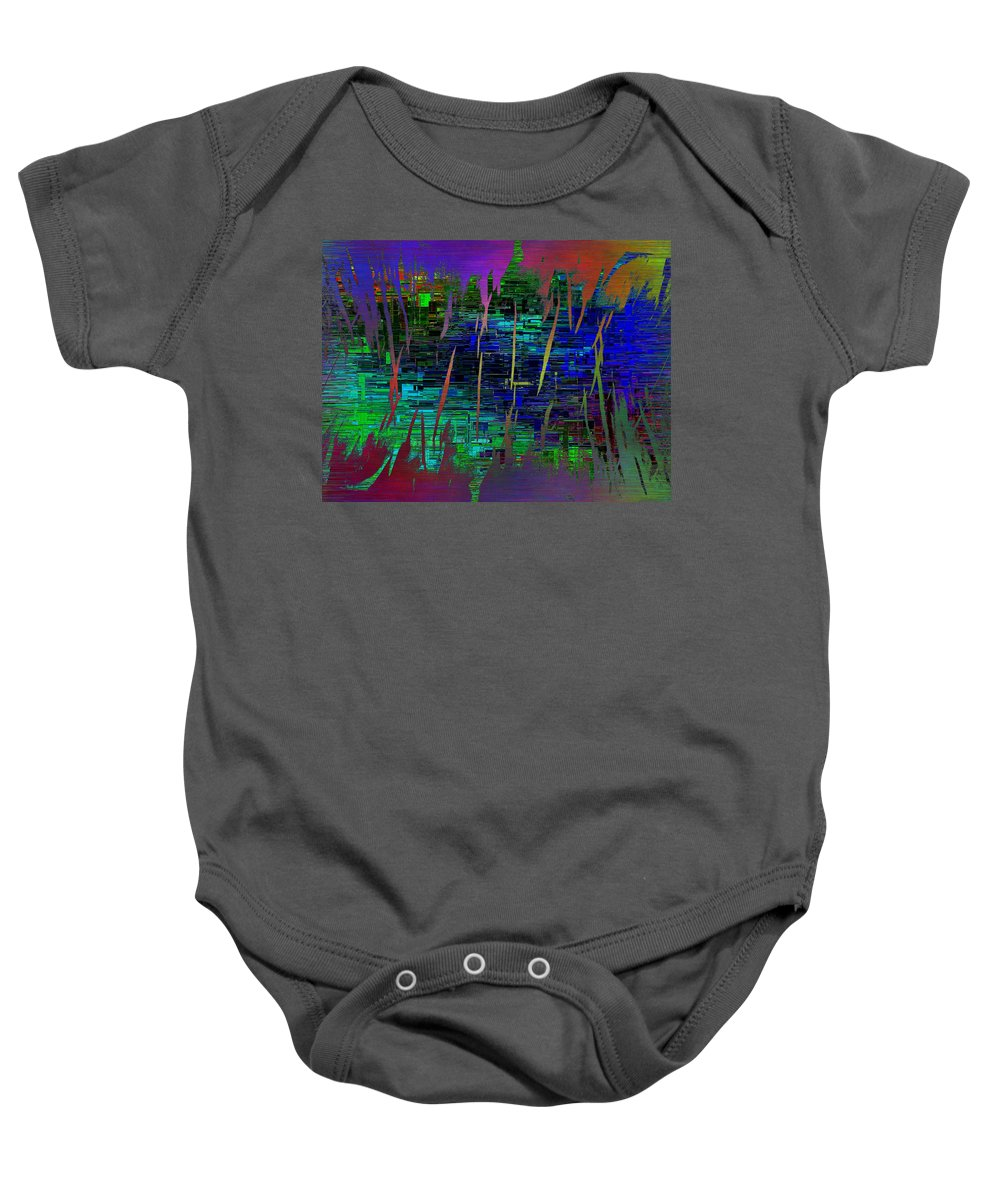 Abstract Baby Onesie featuring the digital art Abstract Cubed 104 by Tim Allen