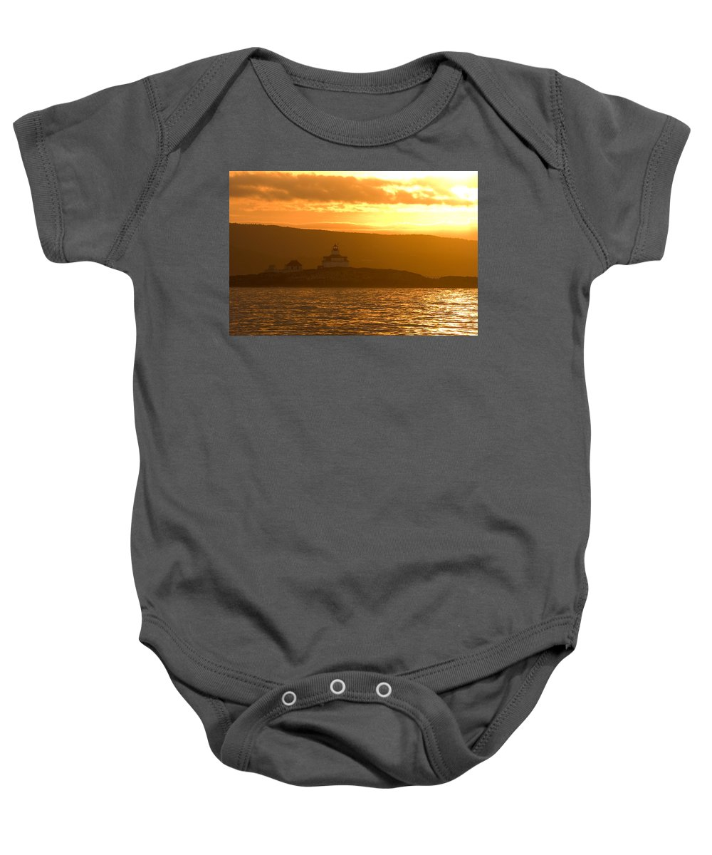Acadia National Park Baby Onesie featuring the photograph Acadia Lighthouse by Sebastian Musial