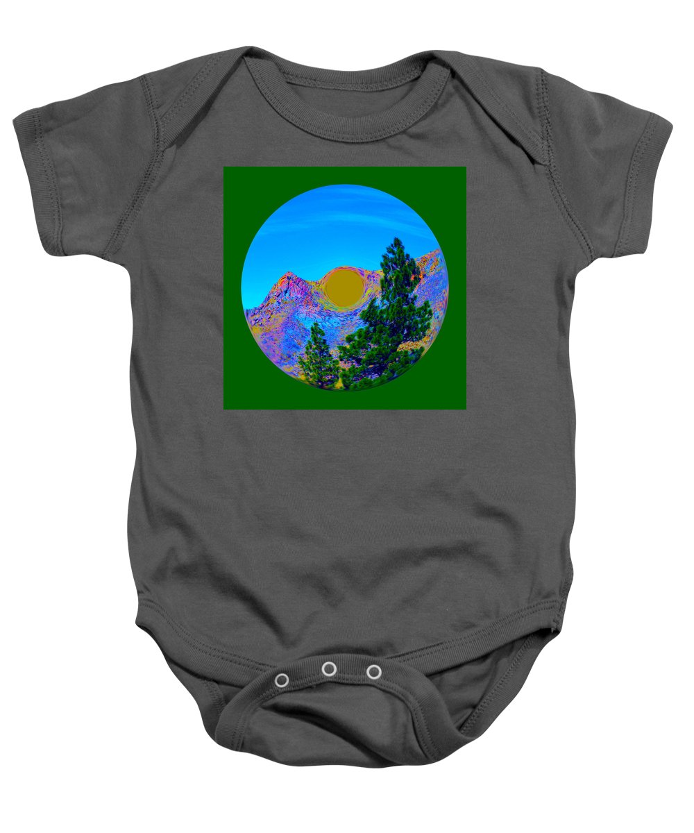 Orb Baby Onesie featuring the photograph Acid Desert Orb 2 by Brent Dolliver