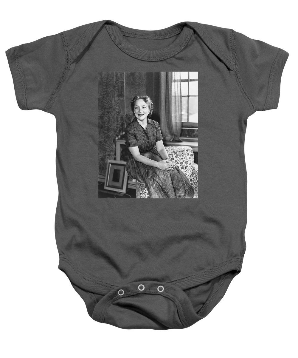 1954 Baby Onesie featuring the photograph Actress Helen Hayes by Underwood Archives