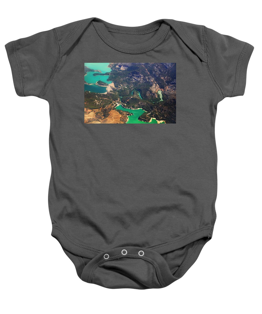 Spain Baby Onesie featuring the photograph Aerial View Of Andalusia. Spain by Jenny Rainbow