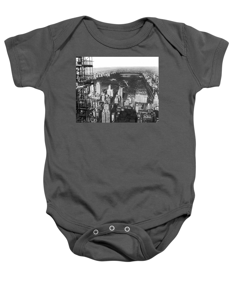 1933 Baby Onesie featuring the photograph Aerial View Of Central Park by Underwood & Underwood