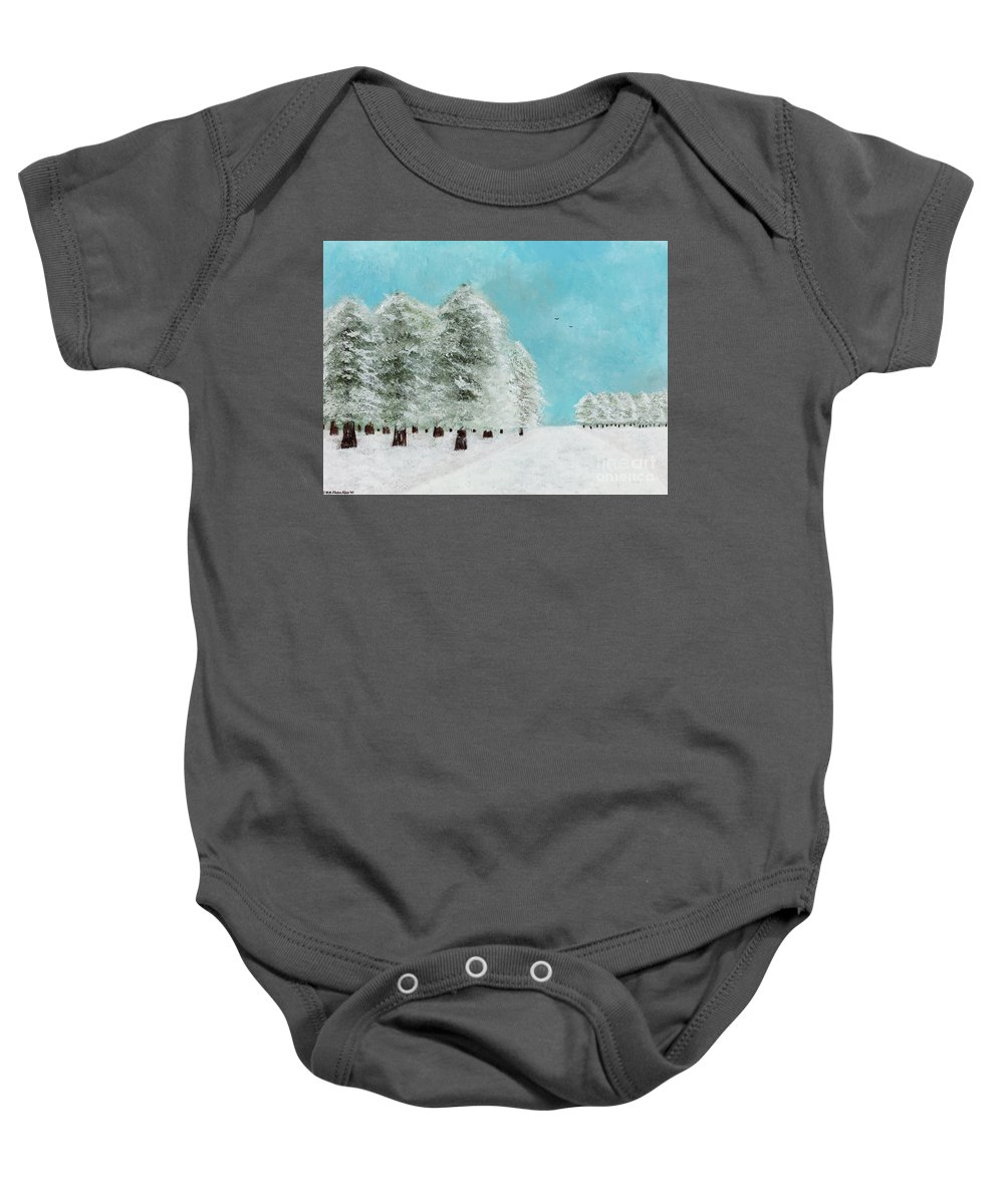 Landscape Baby Onesie featuring the painting After The Storm by Hillary Binder-Klein