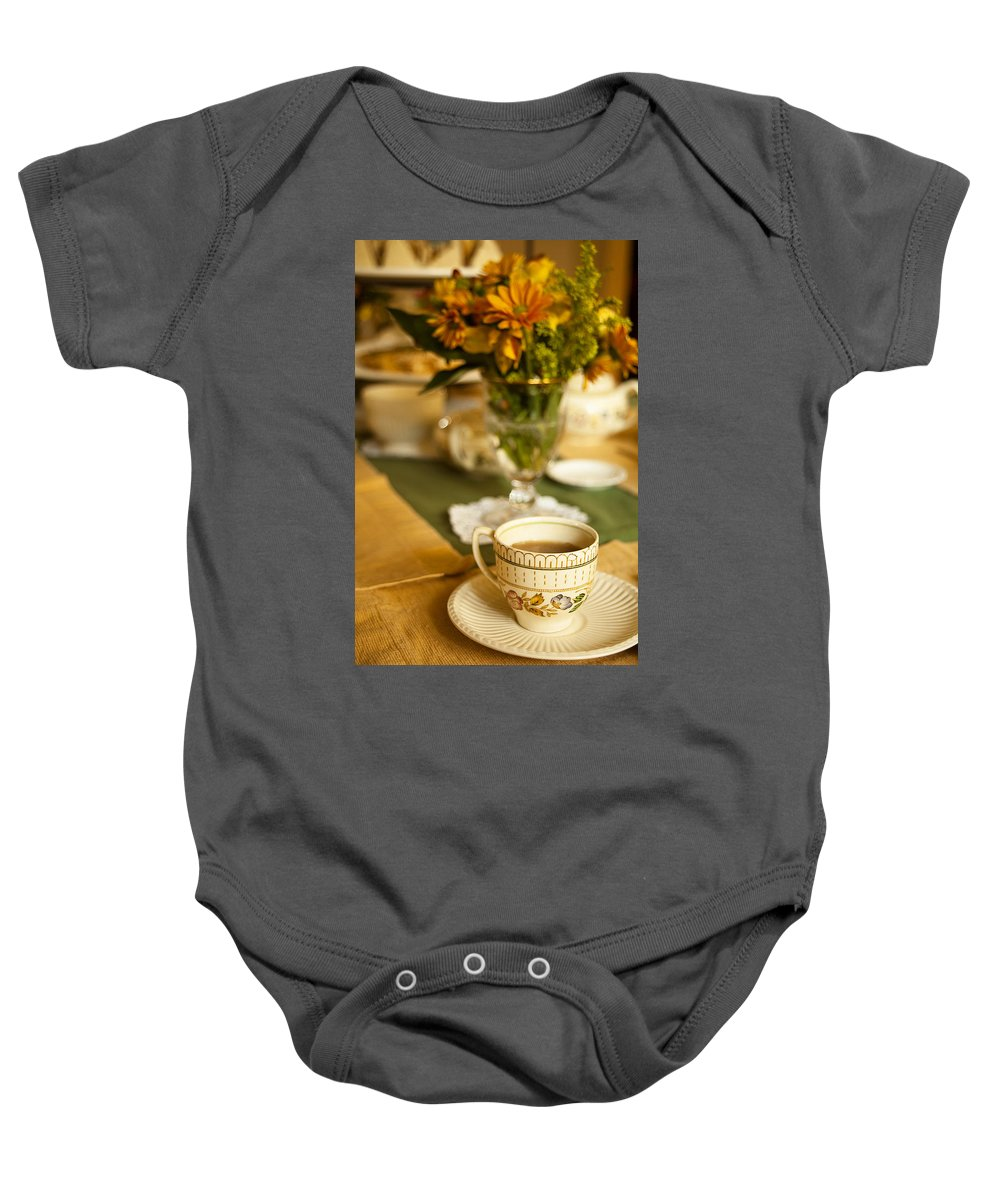 Tea Baby Onesie featuring the photograph Afternoon Tea Time by Andrew Soundarajan