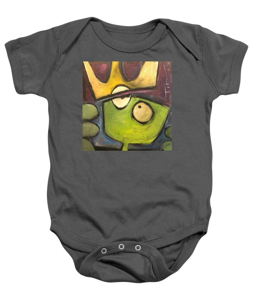 Alien Baby Onesie featuring the painting Alien King by Tim Nyberg
