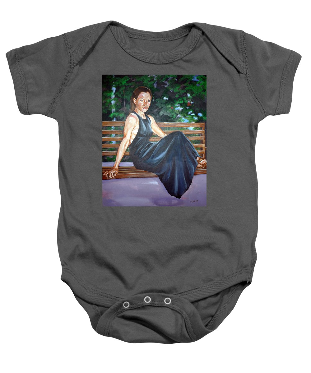 Sexy Baby Onesie featuring the painting Allison Two by Bryan Bustard
