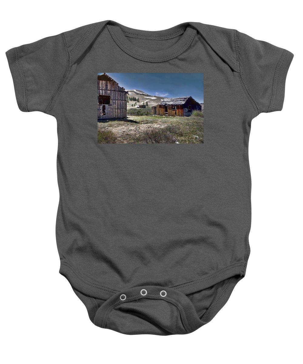 Summitville Baby Onesie featuring the photograph Almost Forgotten by Ellen Heaverlo