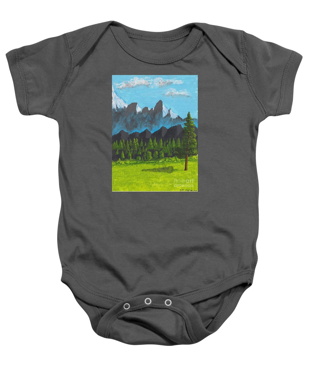 Acrylic Baby Onesie featuring the painting Alpine Meadow by David Jackson