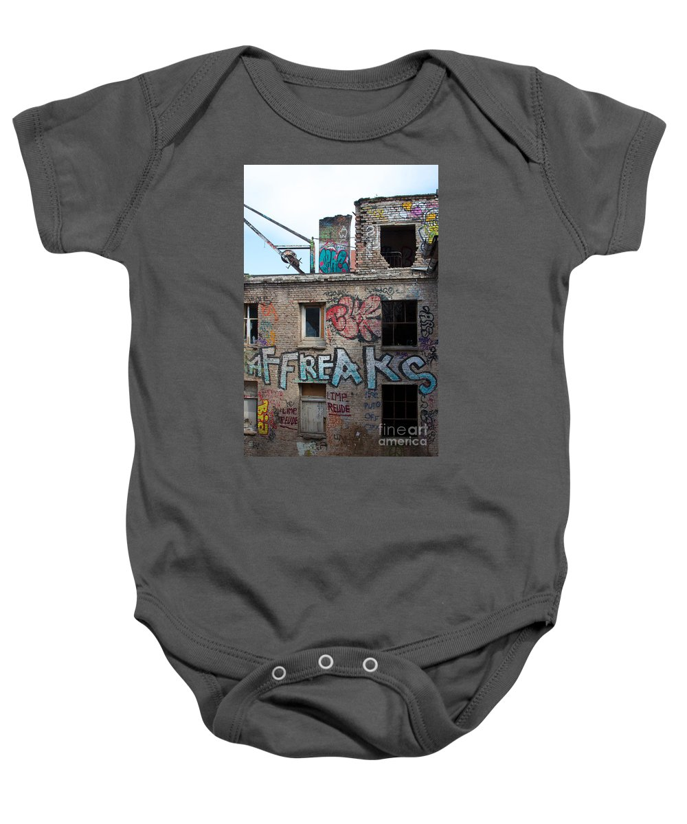 Abandoned Baby Onesie featuring the photograph Alte Eisfabrik Berlin by Jannis Werner