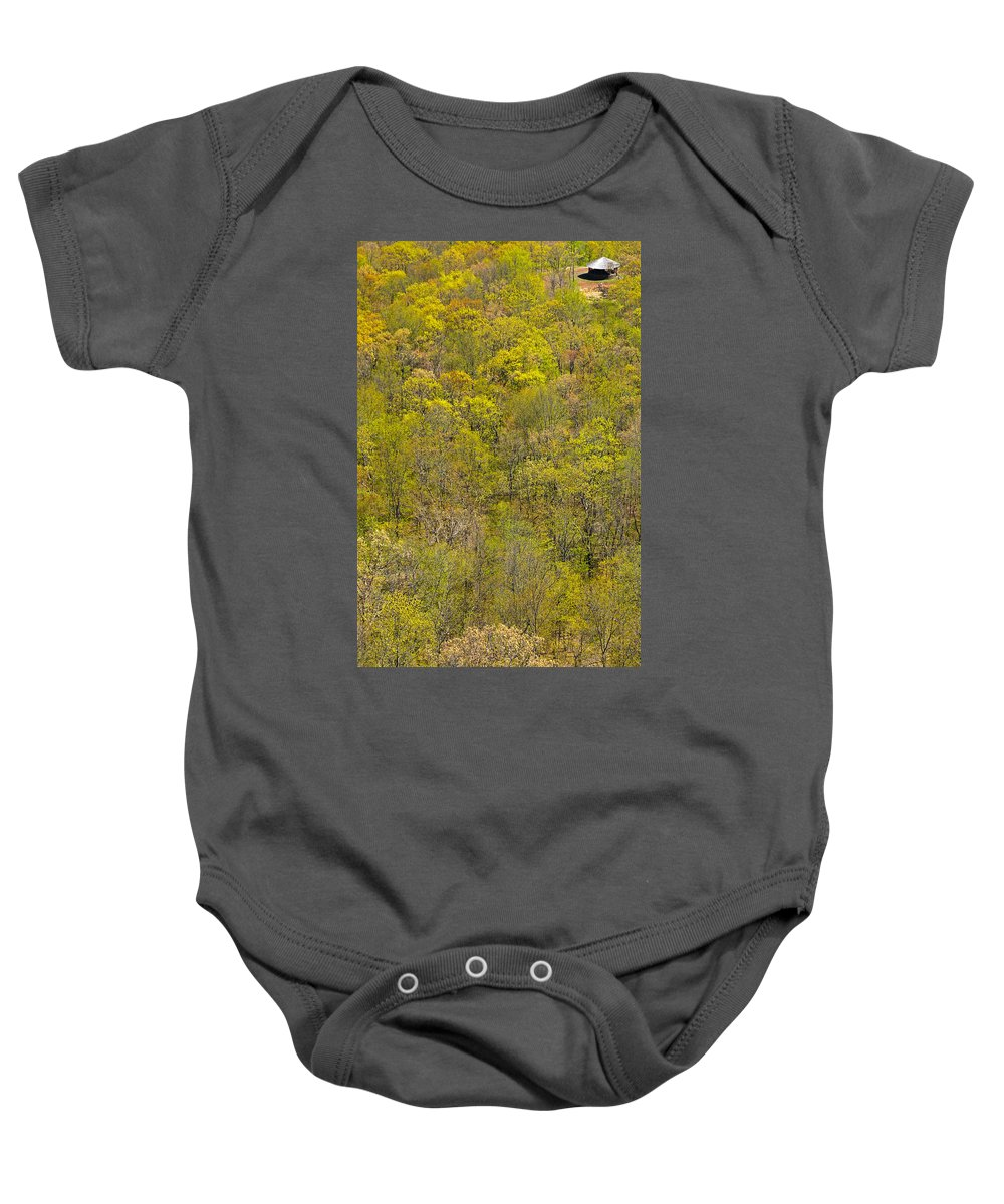 Trees Baby Onesie featuring the photograph Among The Trees by Karol Livote