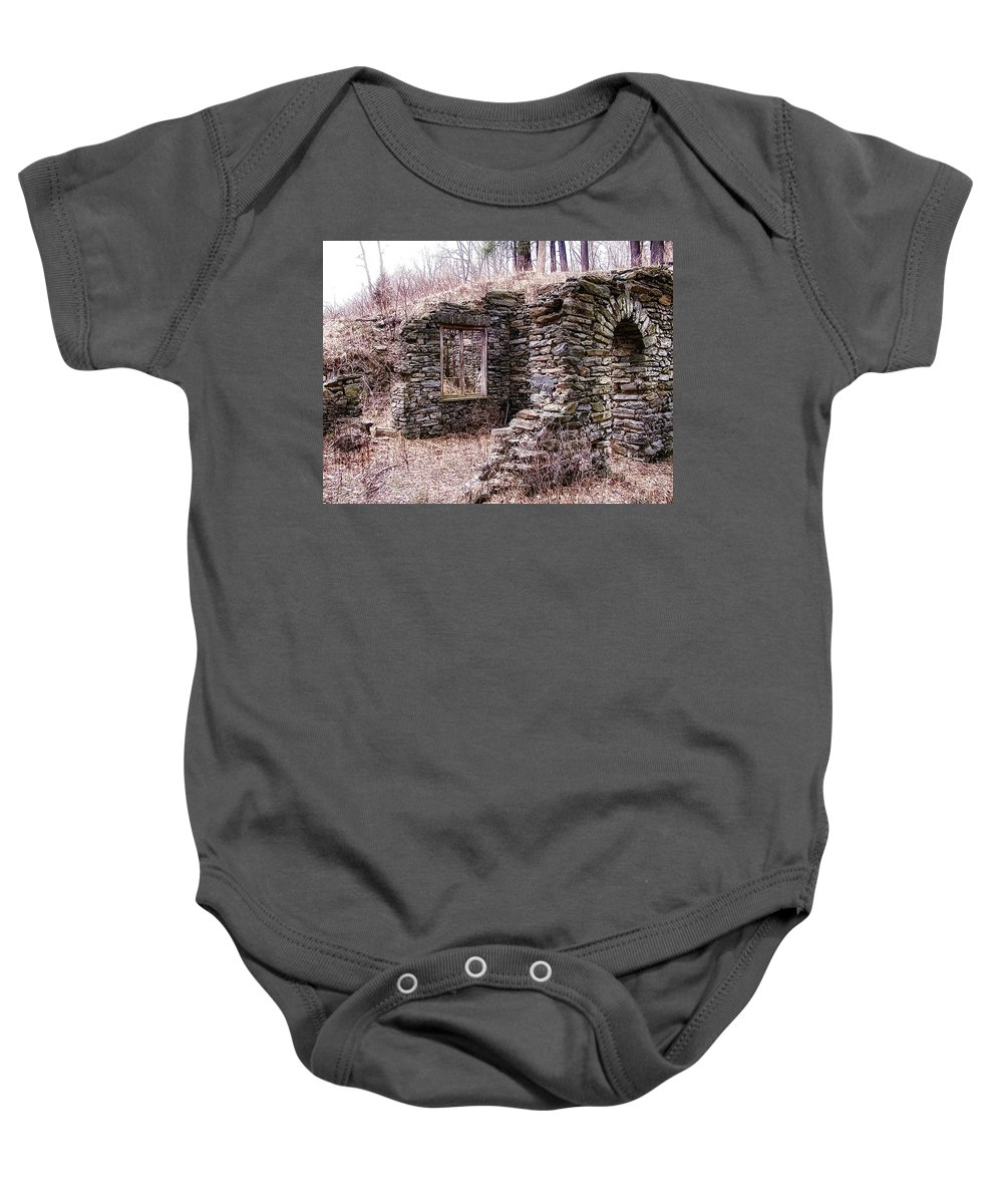 Amongst The Ruins Baby Onesie featuring the photograph Amongst The Ruins by Bill Cannon