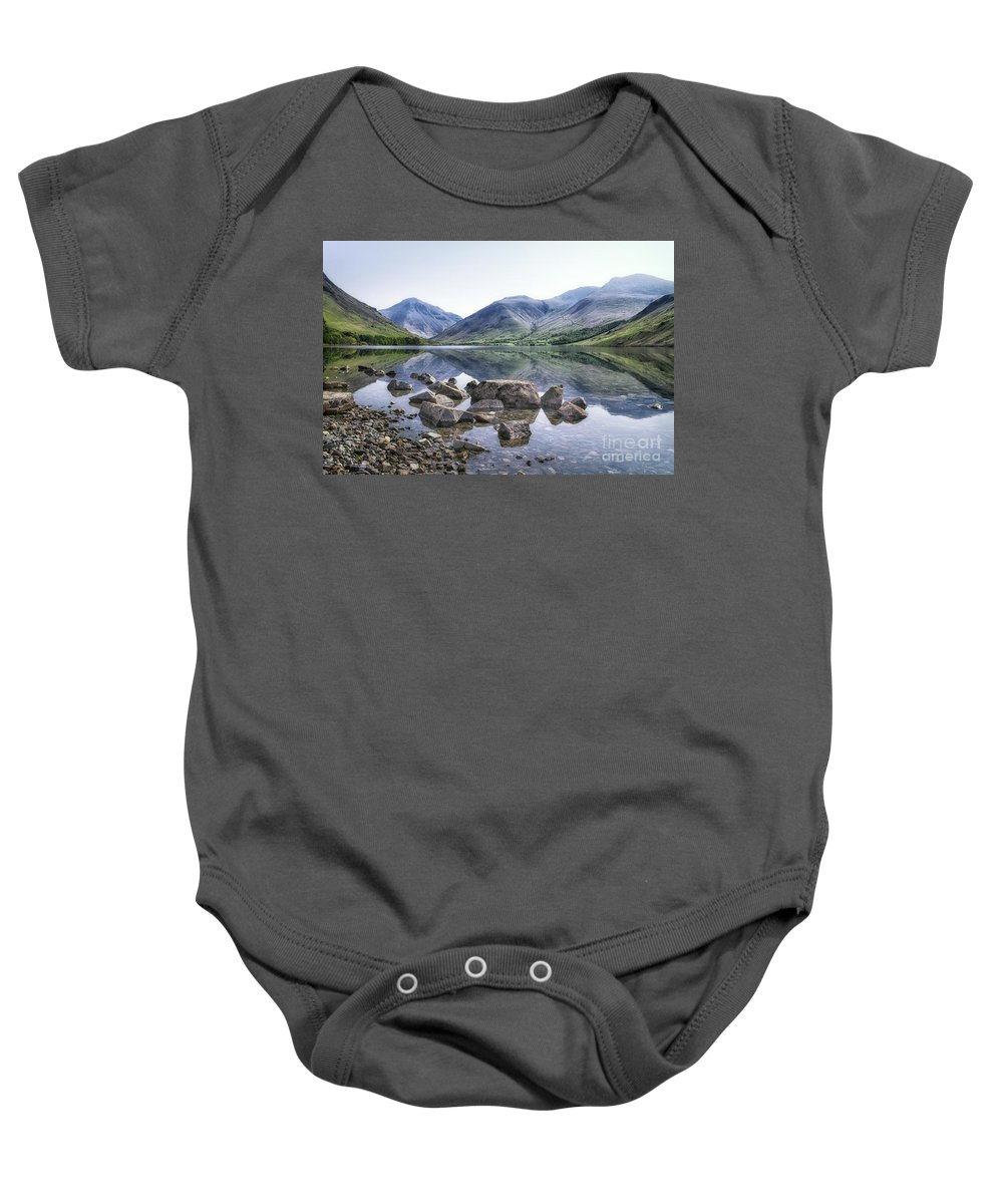 Kremsdorf Baby Onesie featuring the photograph And There Was Peace... by Evelina Kremsdorf