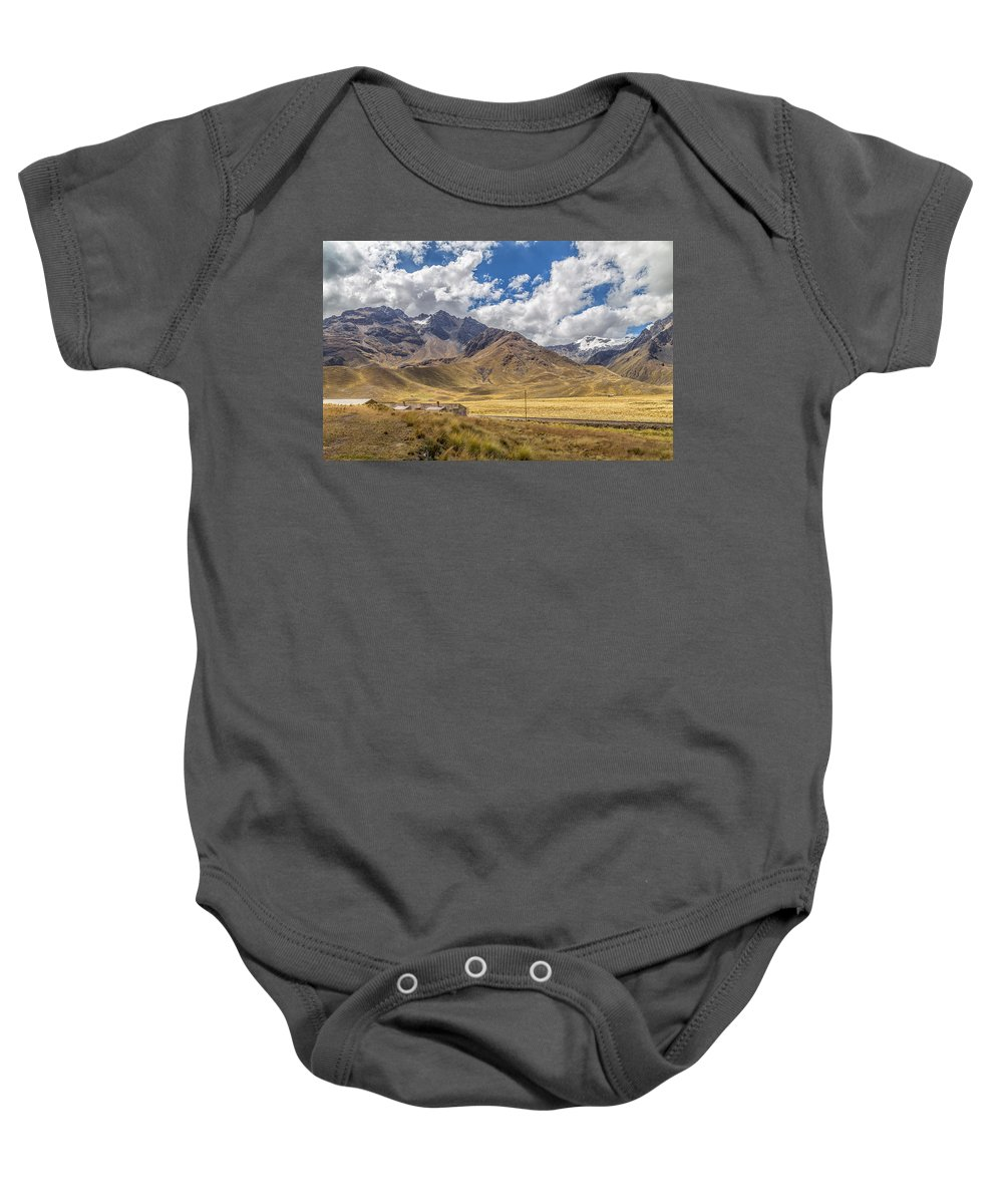 Peru Baby Onesie featuring the photograph Andes Mountains - Peru by Christian Tuk
