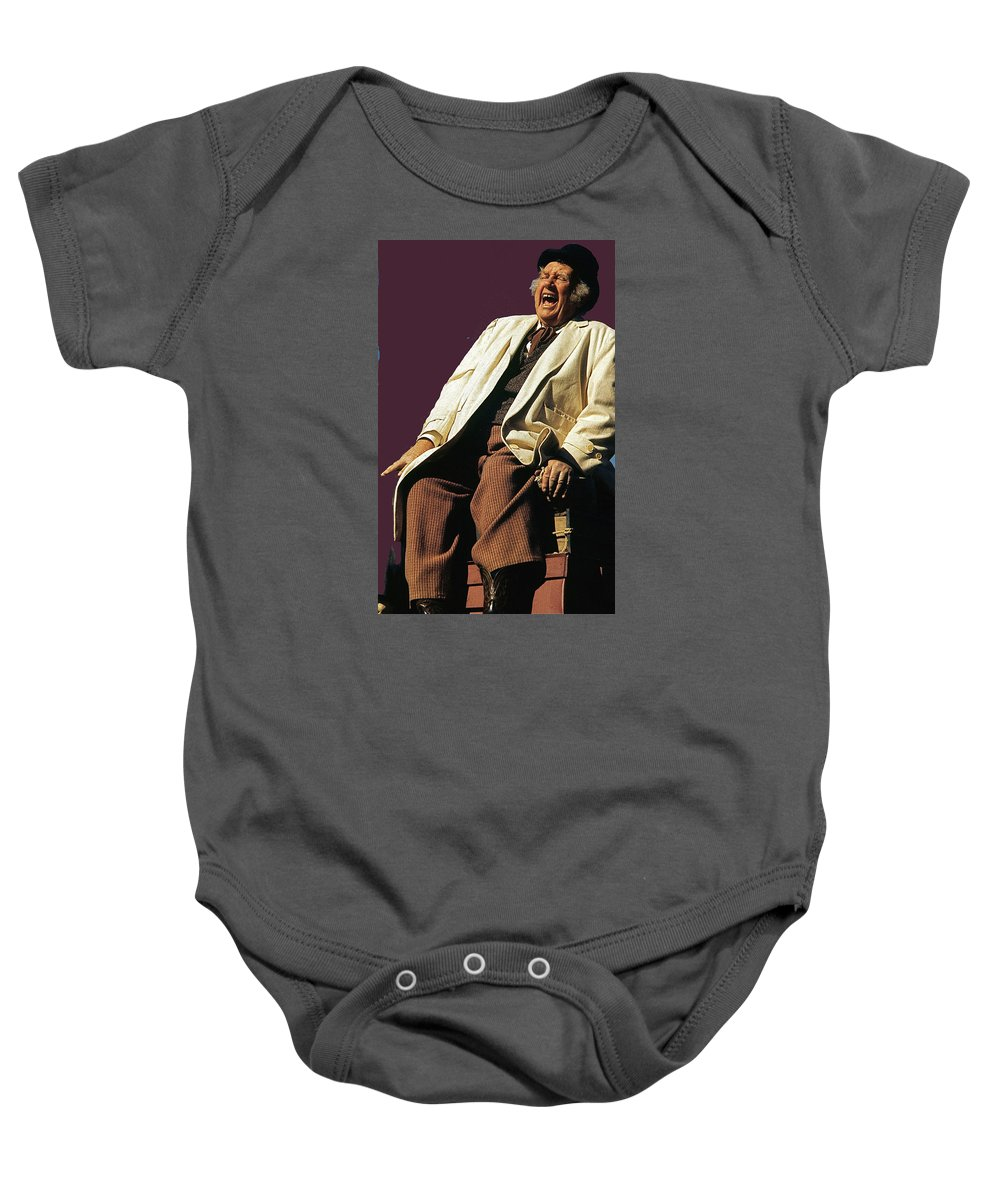 Andy Devine Singing John Wayne Island In The Sky Stagecoach The Man Who Shot Liberty Valance Old Tucson Arizona John Ford Baby Onesie featuring the photograph Andy Devine Singing Old Tucson Arizona by David Lee Guss
