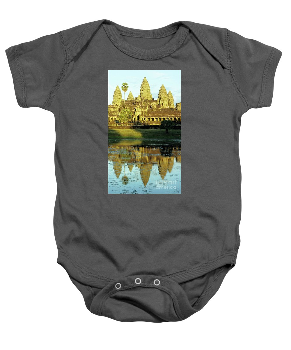 Angkor Baby Onesie featuring the photograph Angkor Wat Reflections 02 by Rick Piper Photography