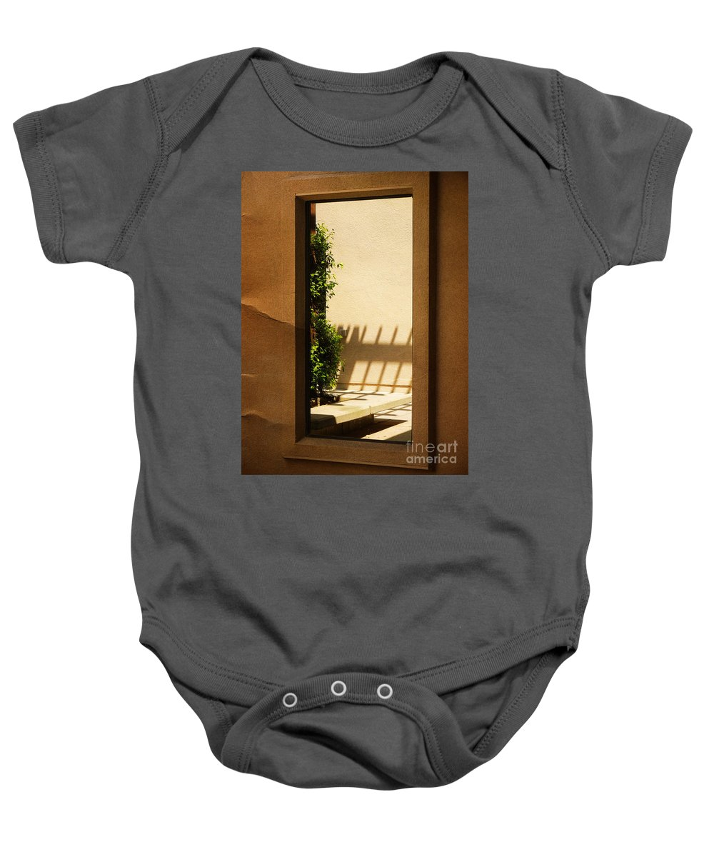 Window Baby Onesie featuring the photograph Angled Reflections2 by Meghan at FireBonnet Art