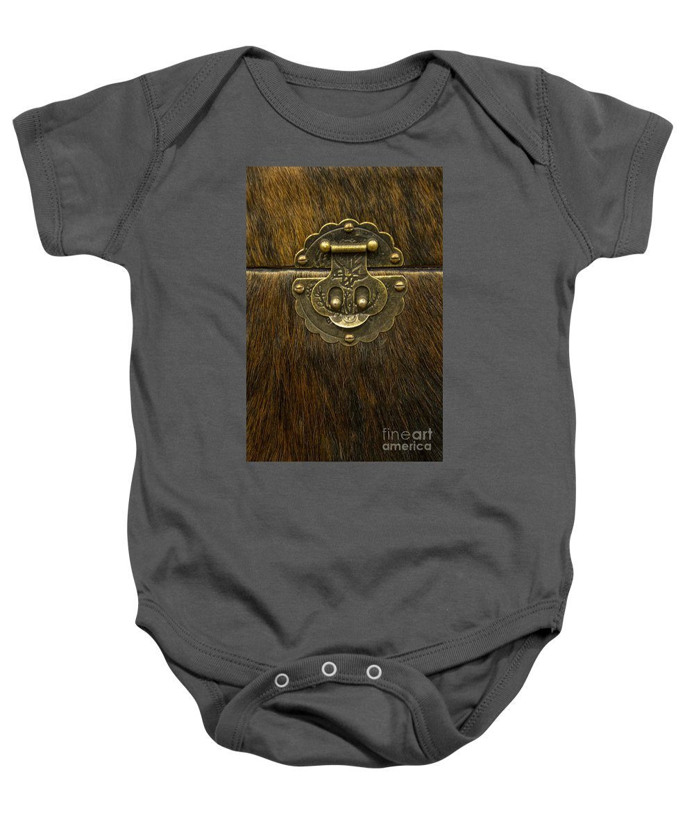 Luggage Baby Onesie featuring the photograph Animal Box by Margie Hurwich