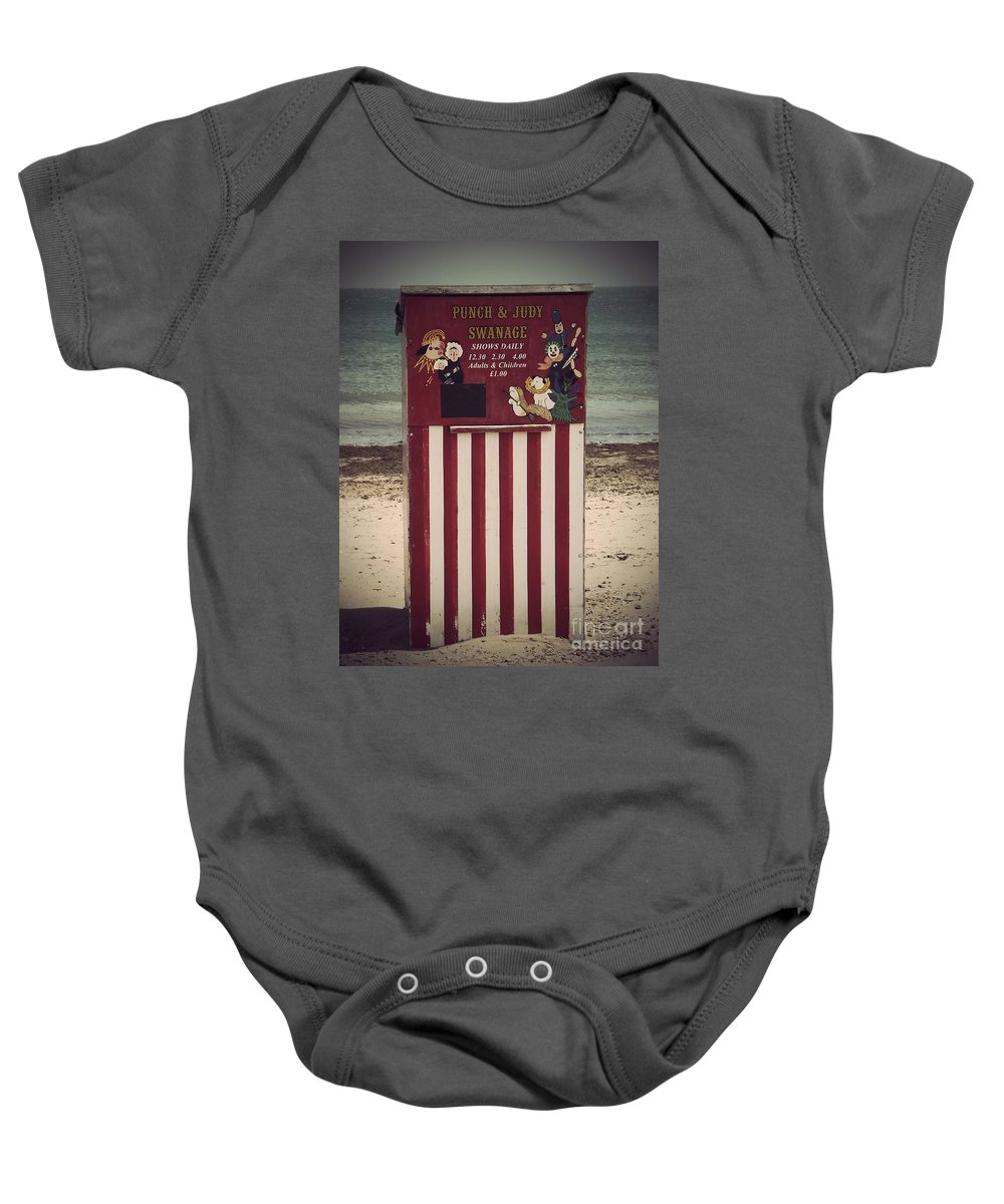 Punch Baby Onesie featuring the photograph Antique Punch And Judy by Linsey Williams