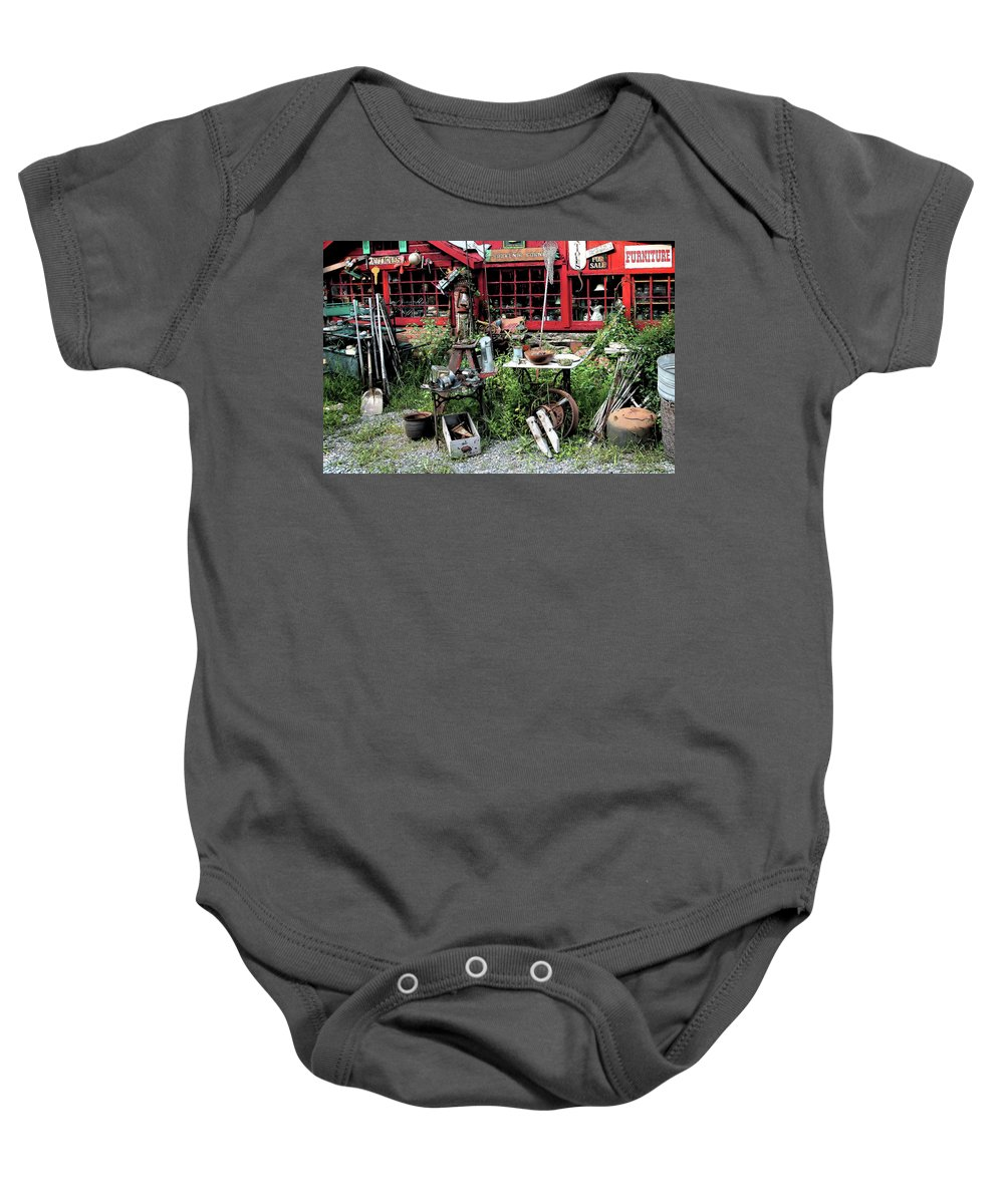 Antiques Baby Onesie featuring the photograph Antiques For Sale by Karol Livote