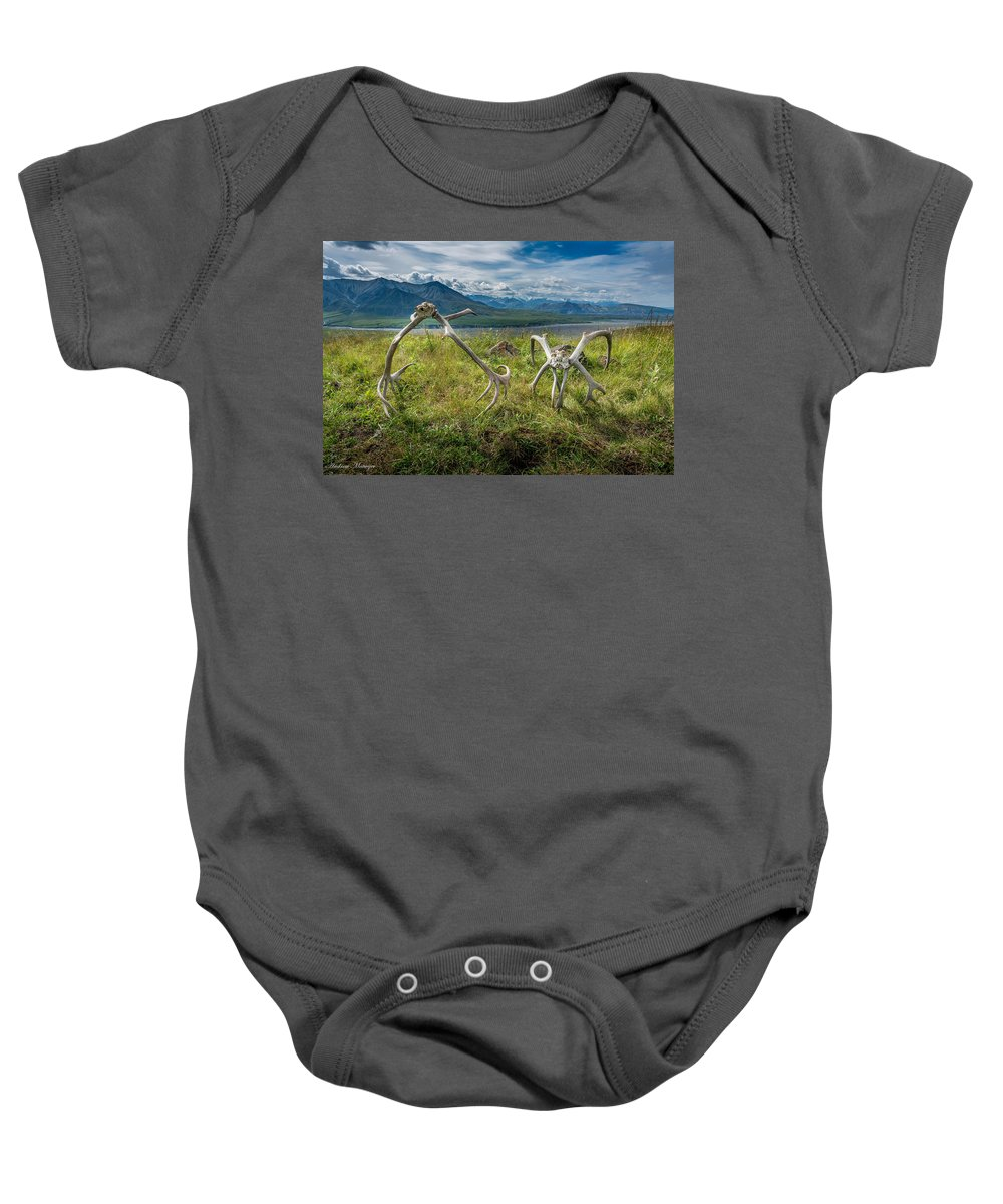 Deer Baby Onesie featuring the photograph Antlers On The Hill by Andrew Matwijec